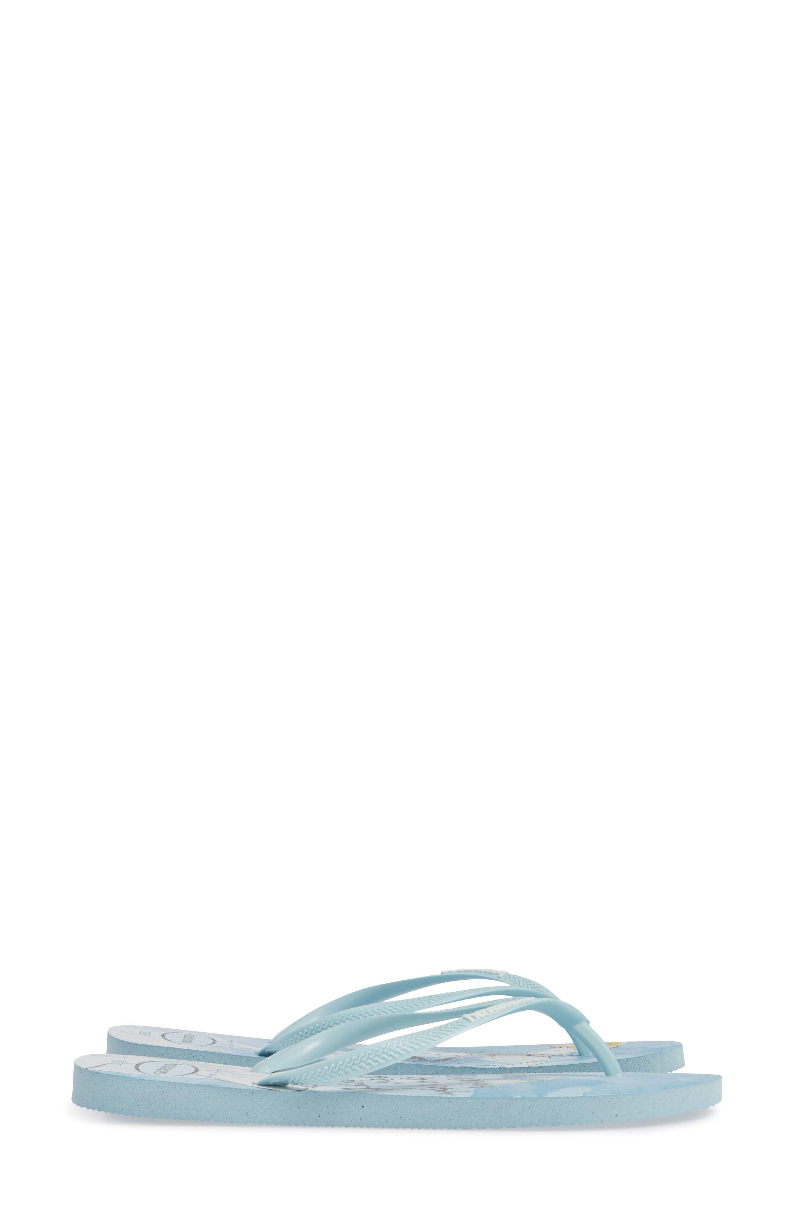 Havaiana Slim - Disney Princess Flip Flop,                             Alternate thumbnail 4, color,                             BLUE AQUA