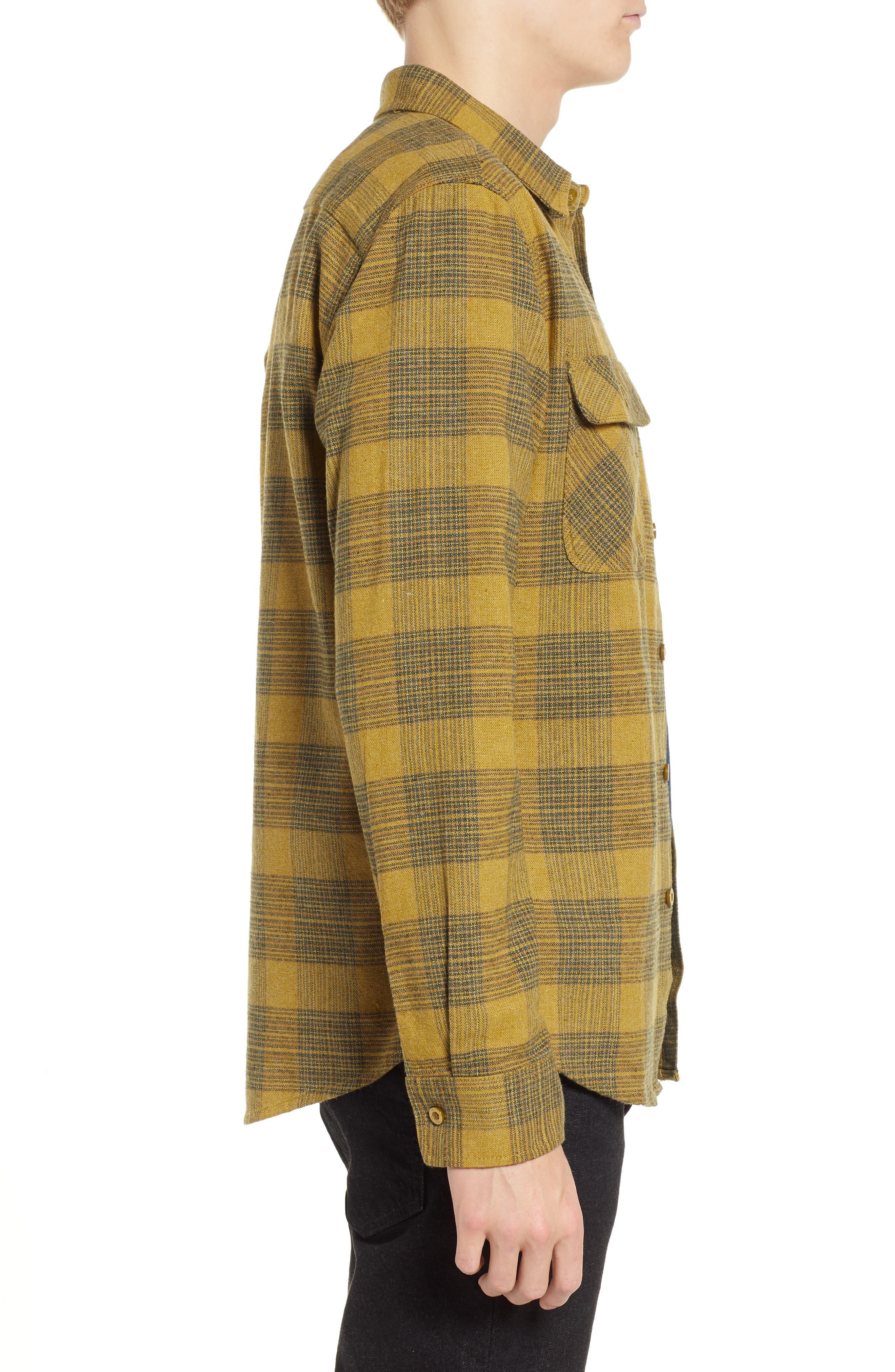 Bowery Flannel Shirt,                             Alternate thumbnail 4, color,                             AVOCADO
