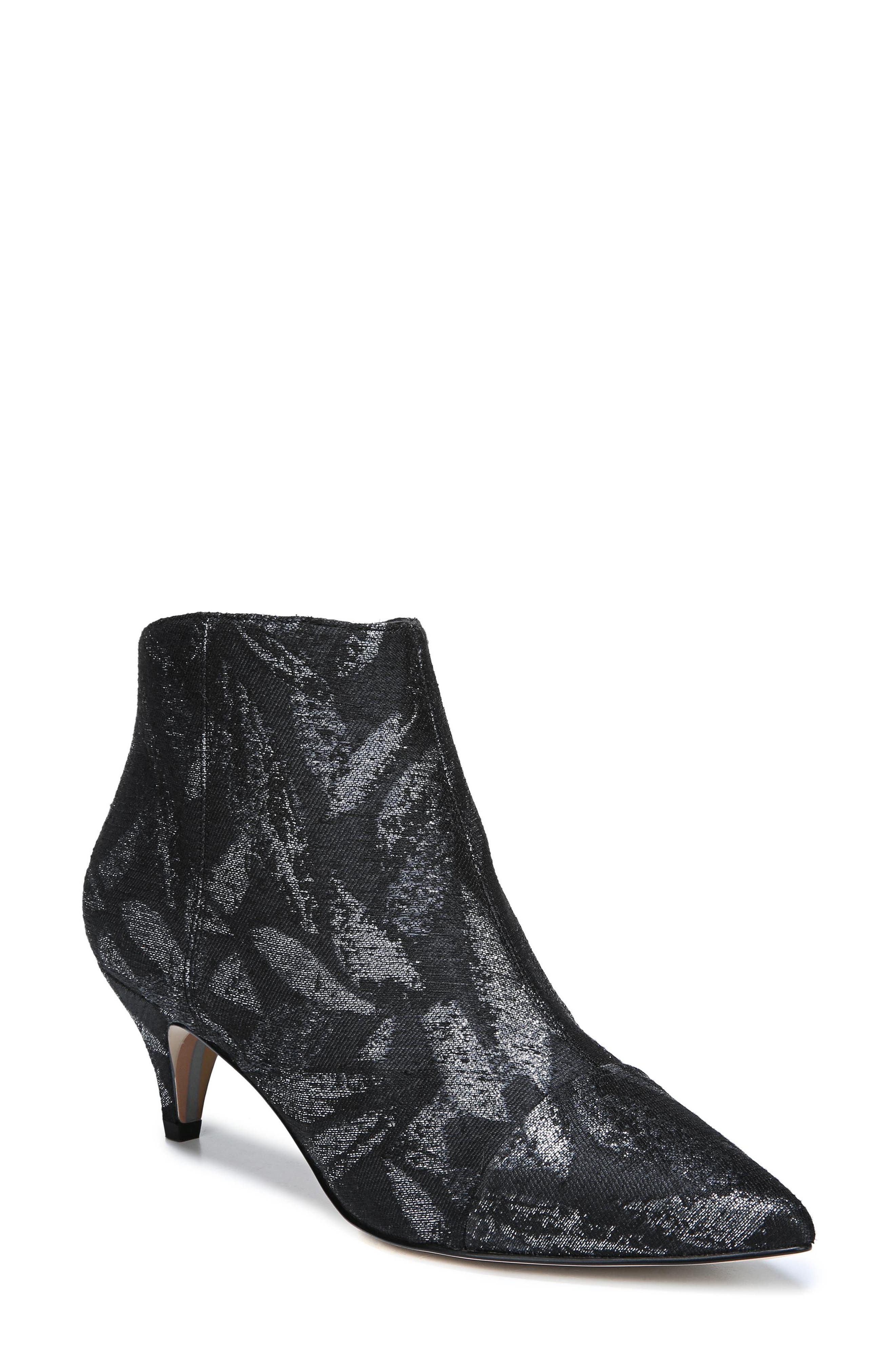 Sam Edelman Kinzey Pointy Toe Bootie, Metallic