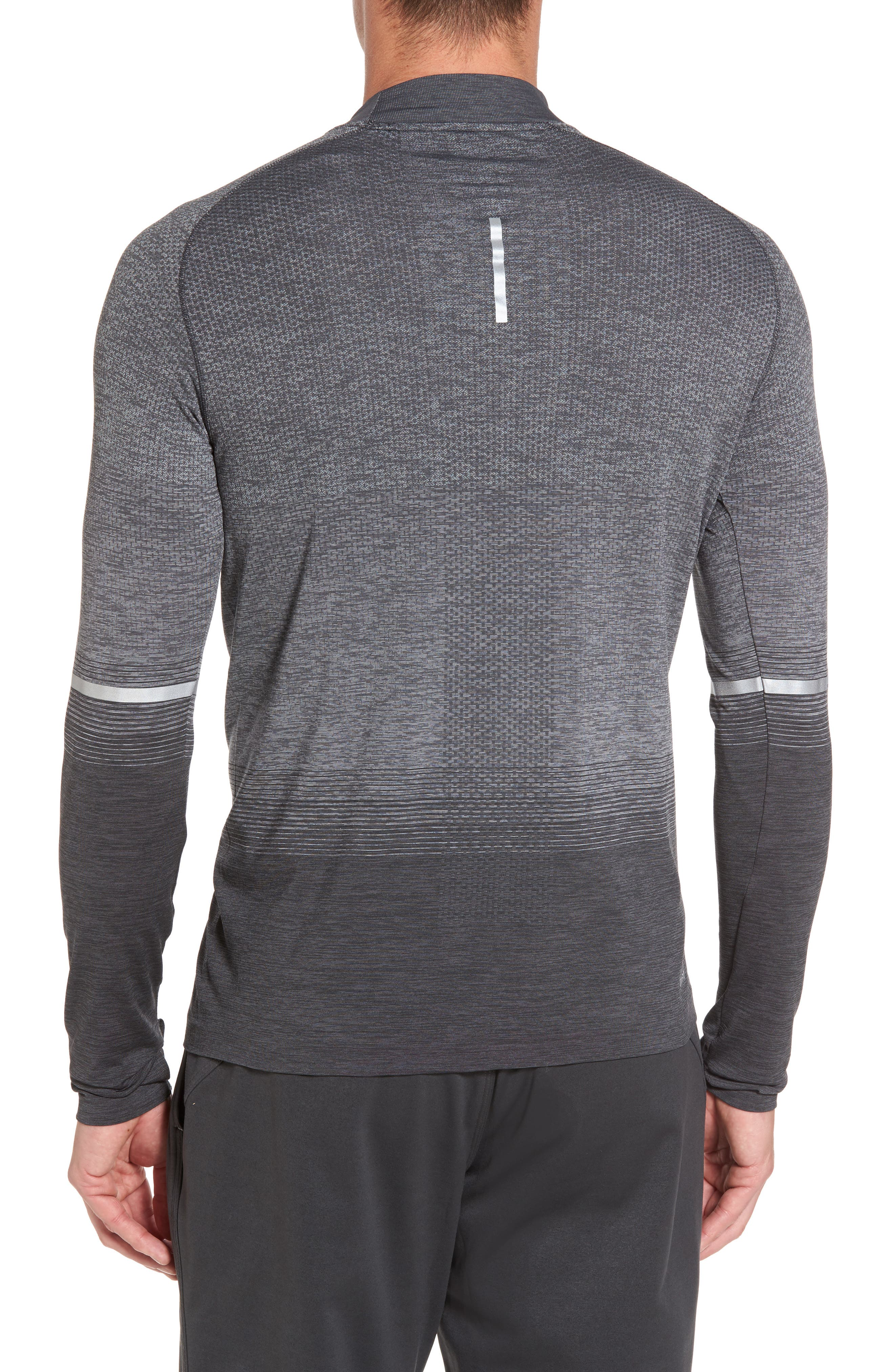Dry Running Mock Neck Long Sleeve T-Shirt,                             Alternate thumbnail 2, color,                             ANTHRACITE/ WOLF GREY/ GREY