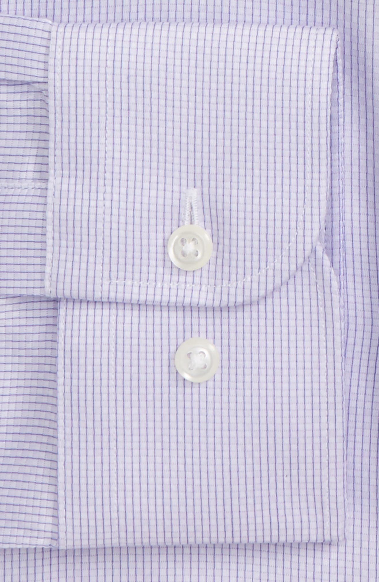 Trim Fit Stripe Dress Shirt,                             Alternate thumbnail 18, color,
