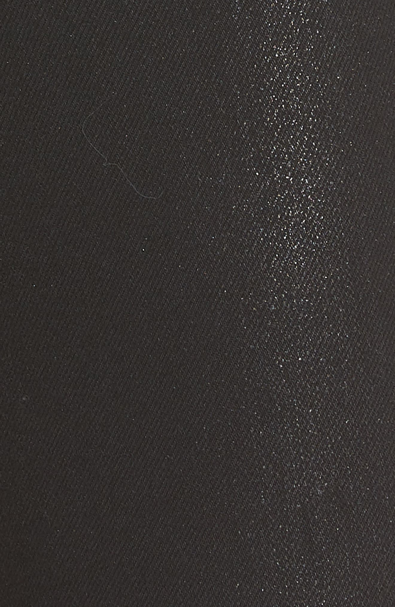 Bullocks High Waist Lace-Up Skinny Jeans,                             Alternate thumbnail 5, color,                             001