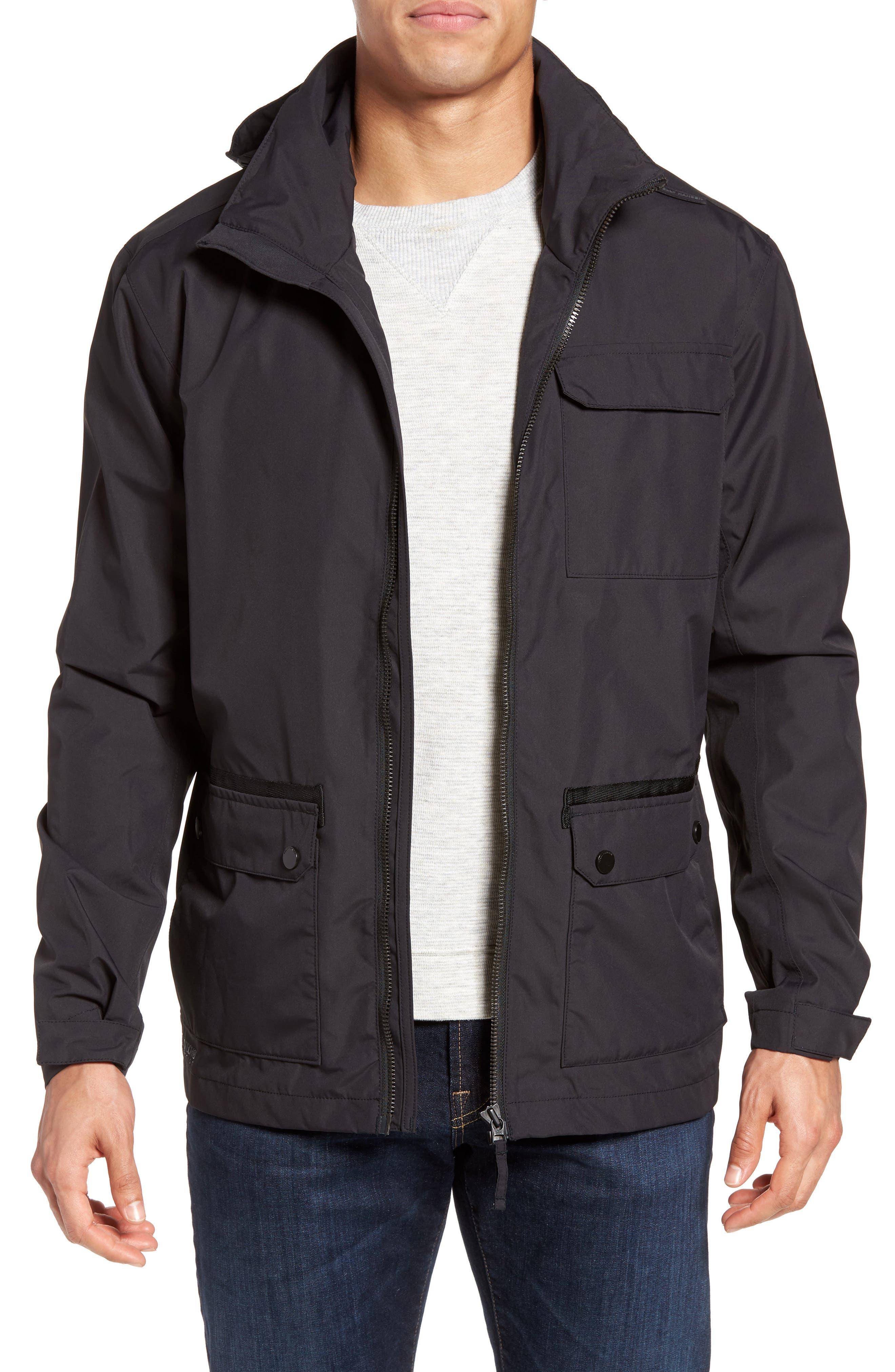 HELLY HANSEN Highlands Rain Jacket, Main, color, 001