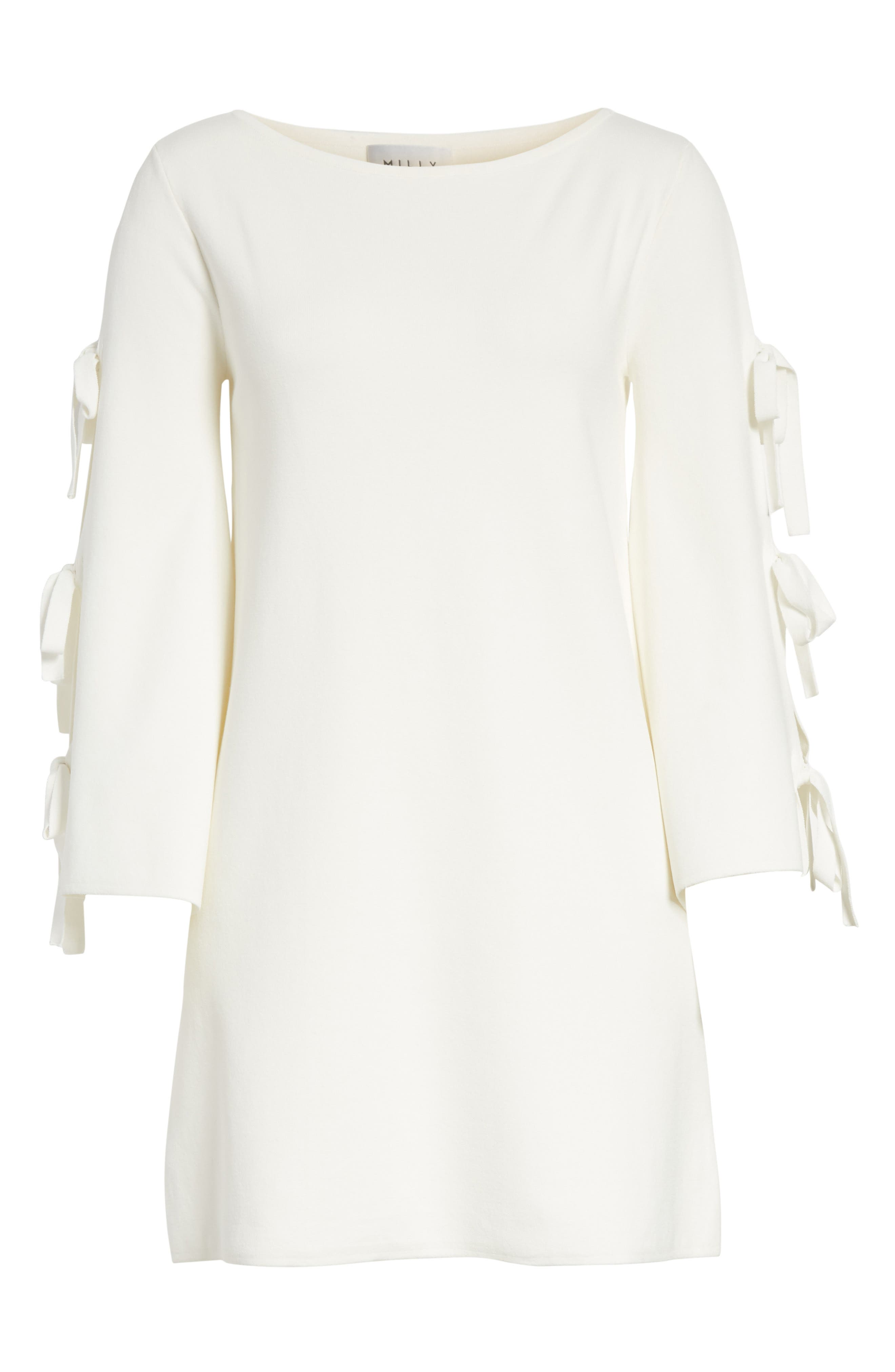 Tied Bell Sleeve Shift Dress,                             Alternate thumbnail 6, color,                             150