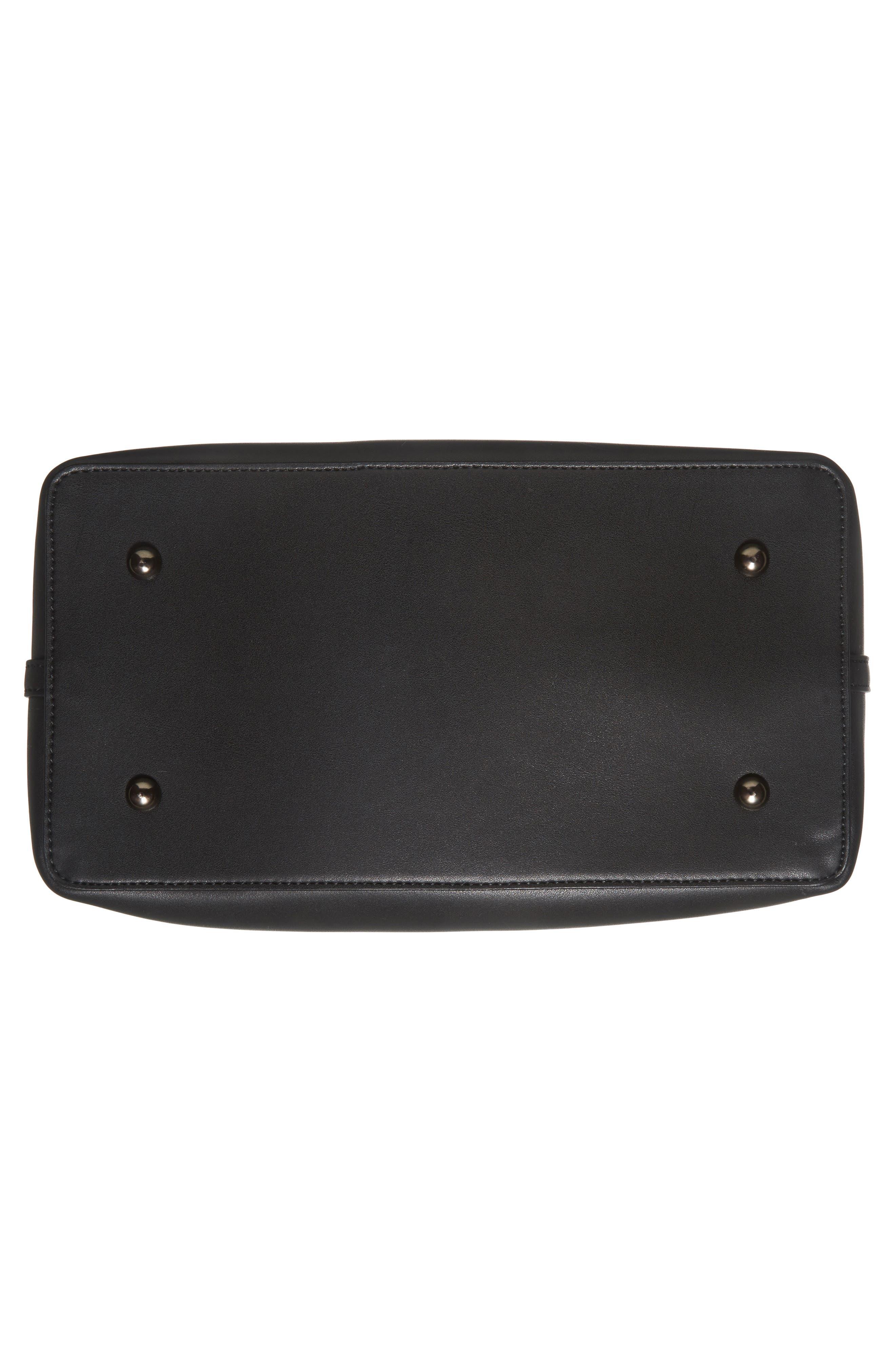 Raisin Leather Handbag,                             Alternate thumbnail 6, color,                             001