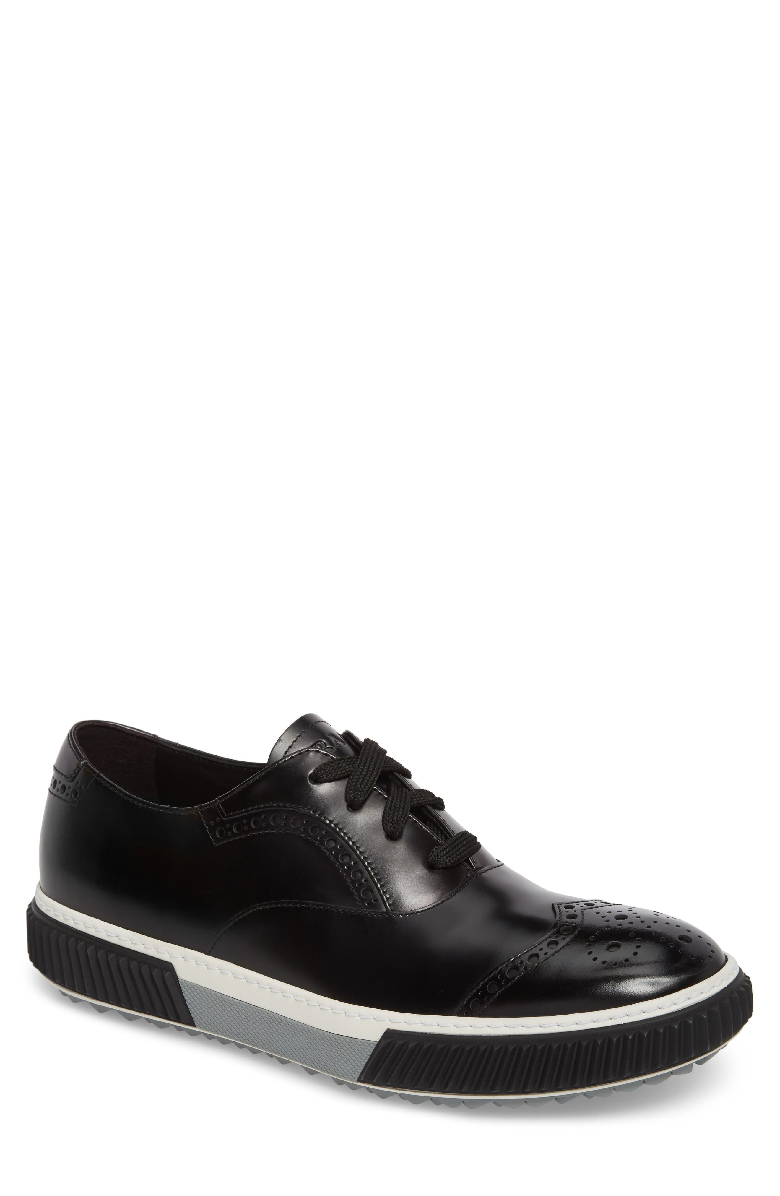 Linea Rossa Wingtip Sneaker,                             Main thumbnail 1, color,                             002