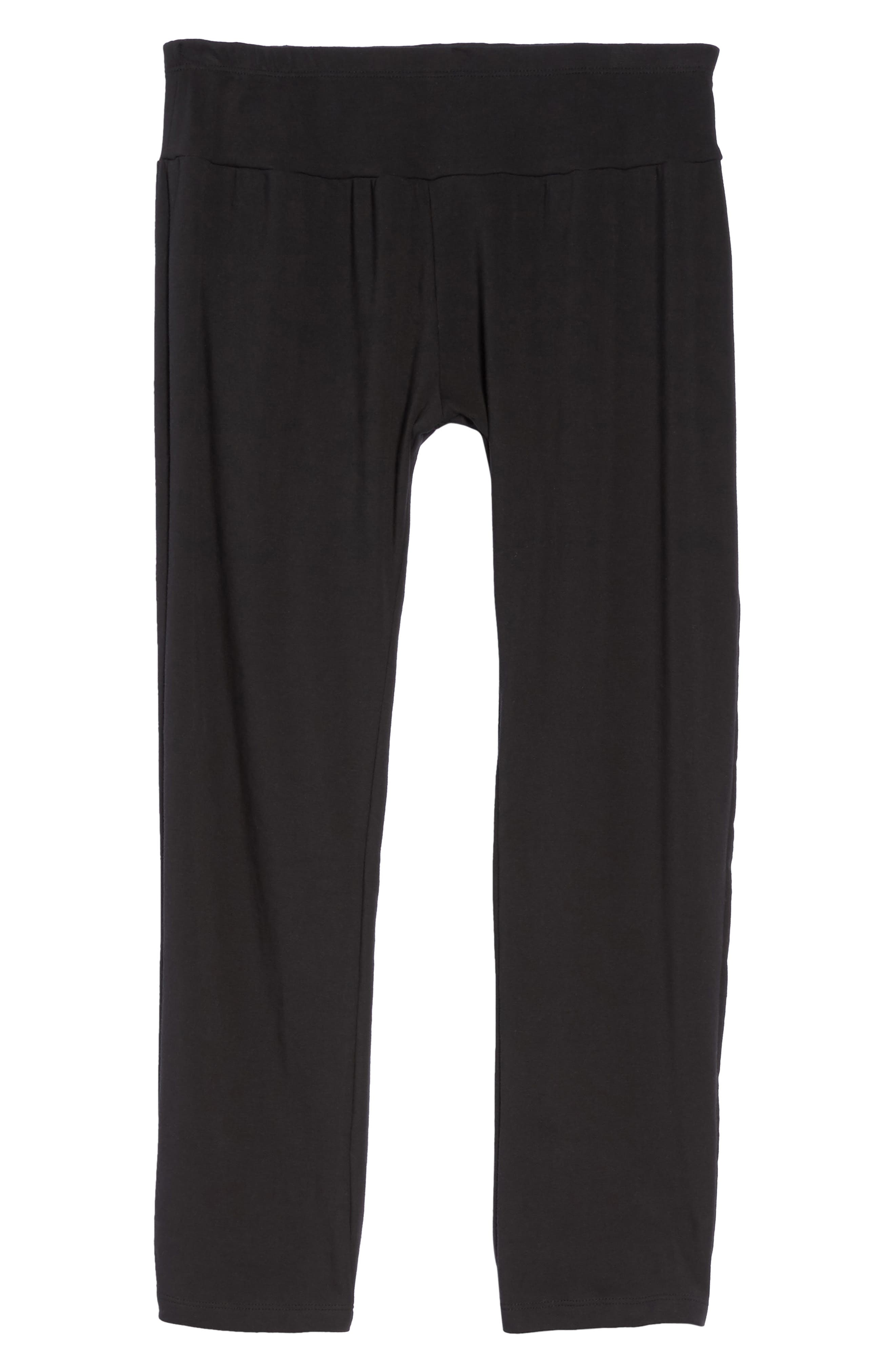 New Mama Relaxed Fit Pants,                             Alternate thumbnail 6, color,                             001