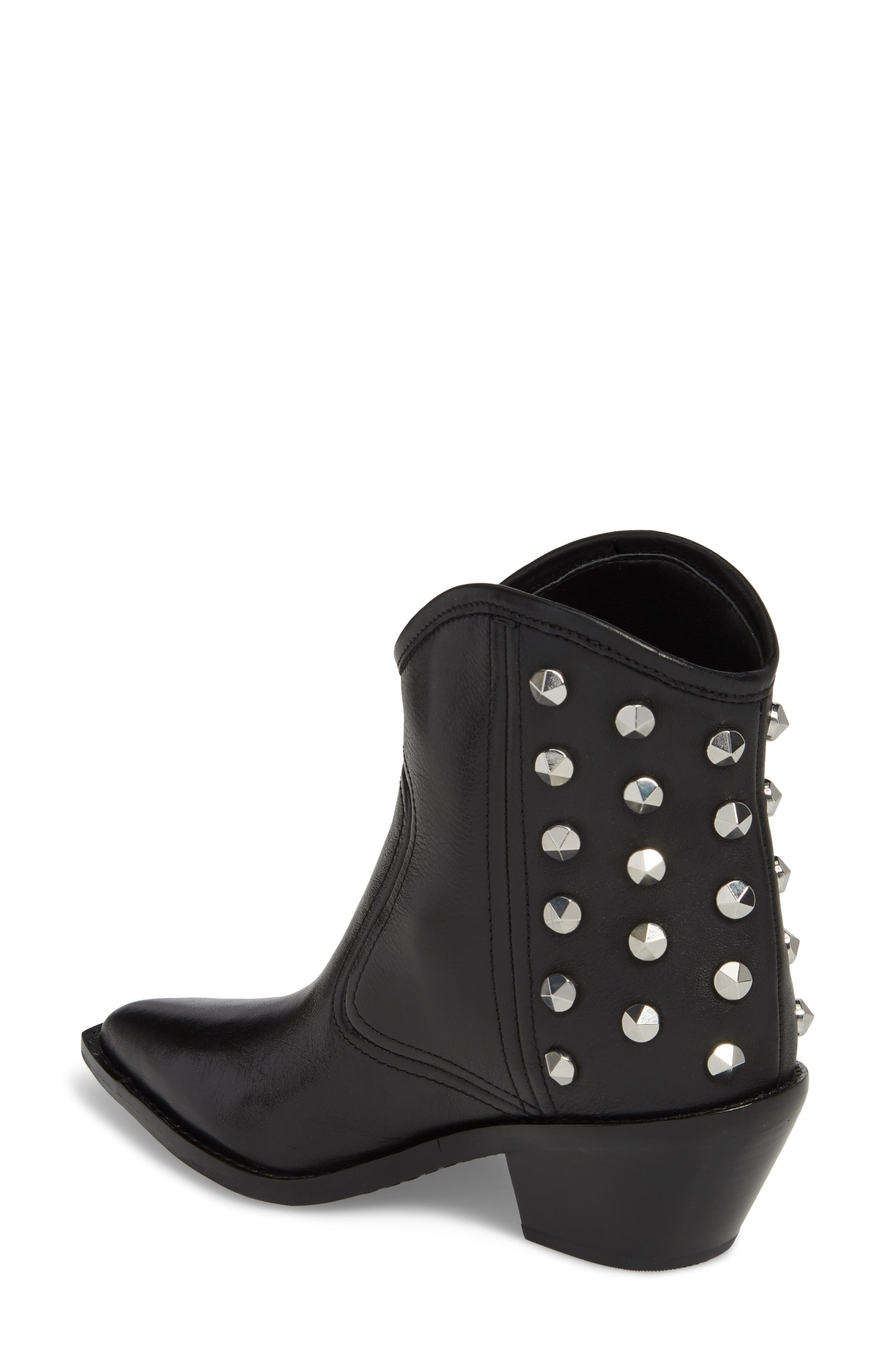 MARC FISHER LTD,                             Marc Fisher Baily Studded Western Bootie,                             Alternate thumbnail 2, color,                             001