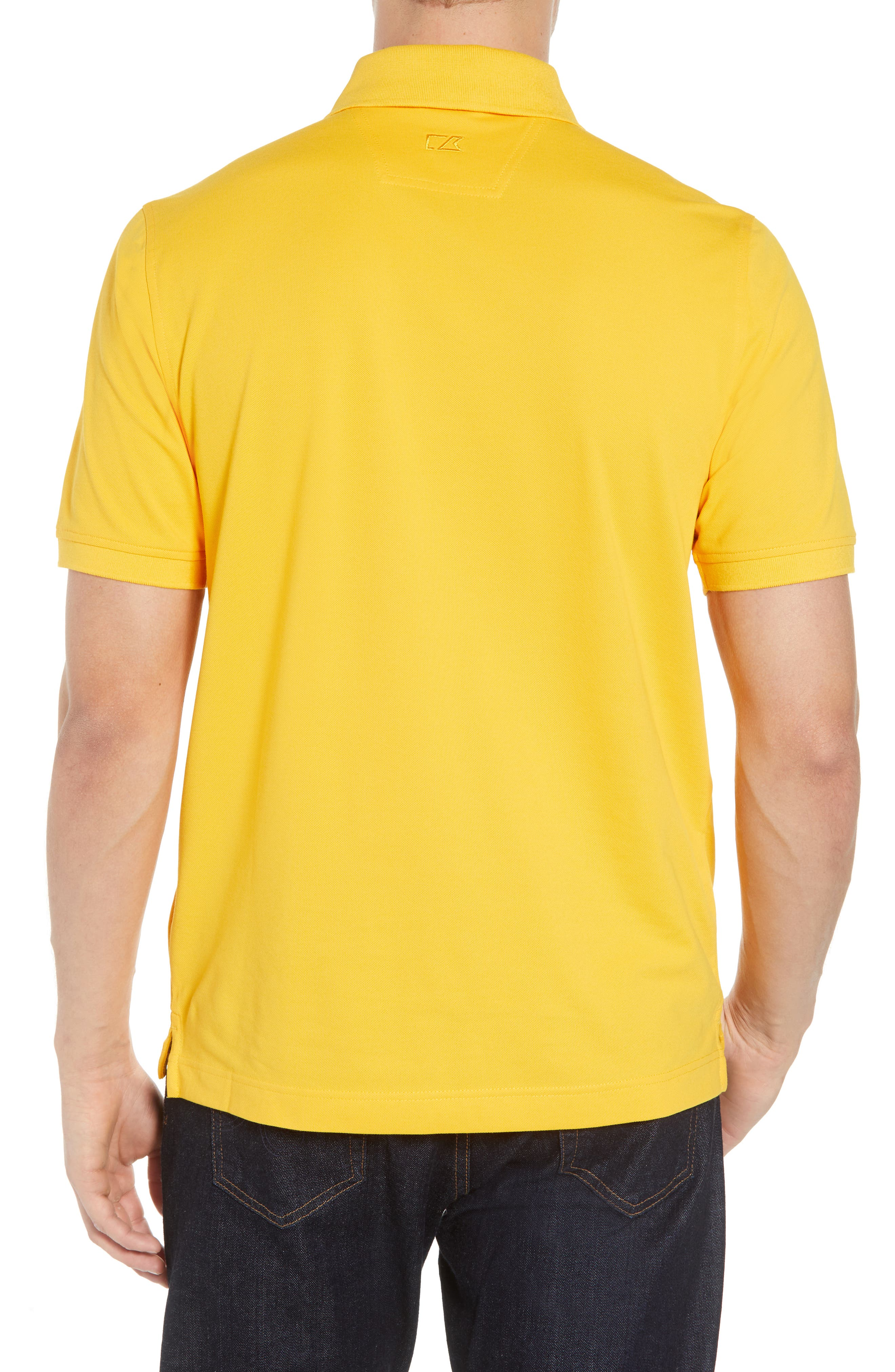 Los Angeles Chargers - Advantage Regular Fit DryTec Polo,                             Alternate thumbnail 2, color,                             COLLEGE GOLD