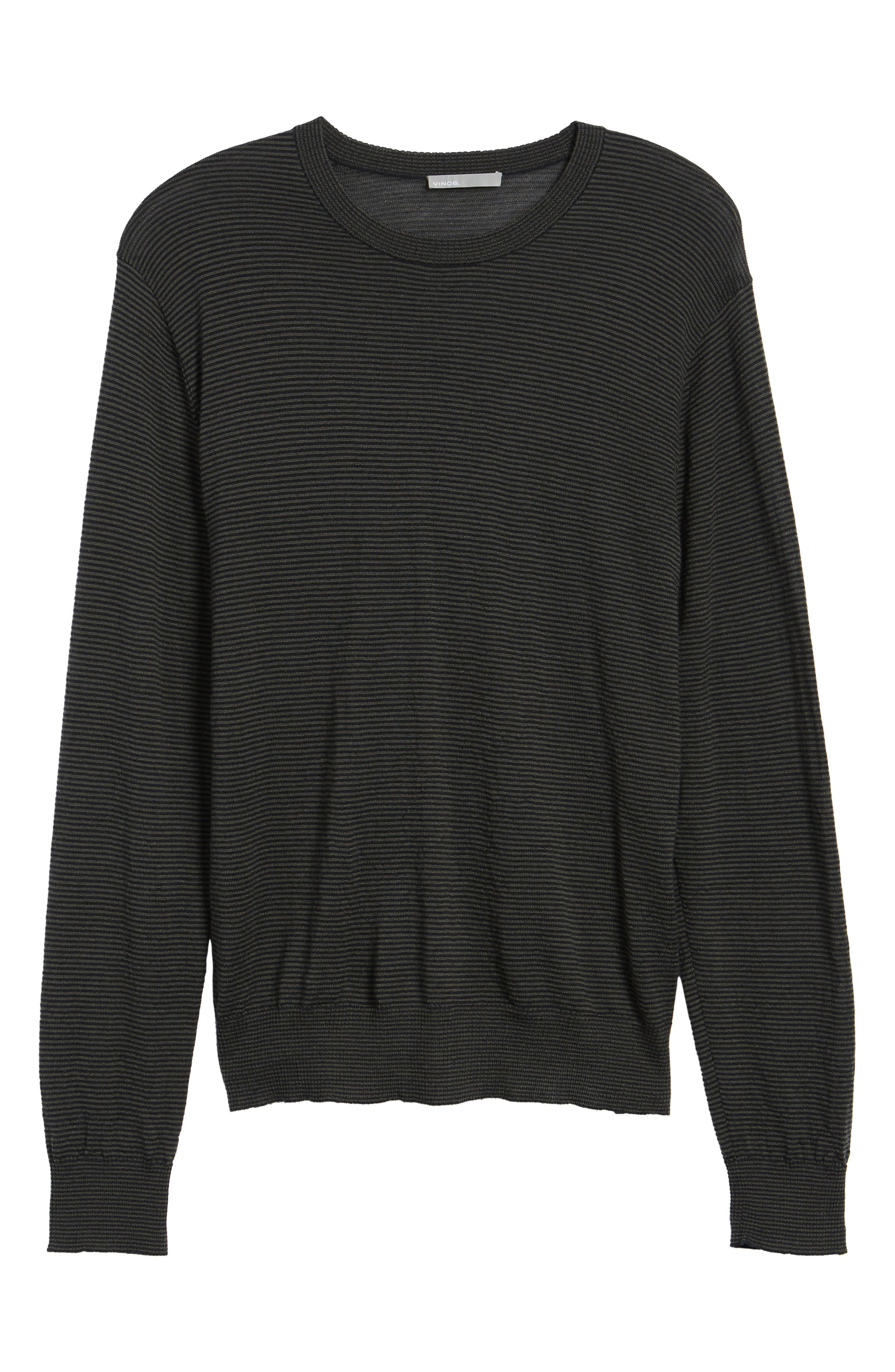 Regular Fit Pinstripe Wool Sweater,                             Alternate thumbnail 6, color,                             400