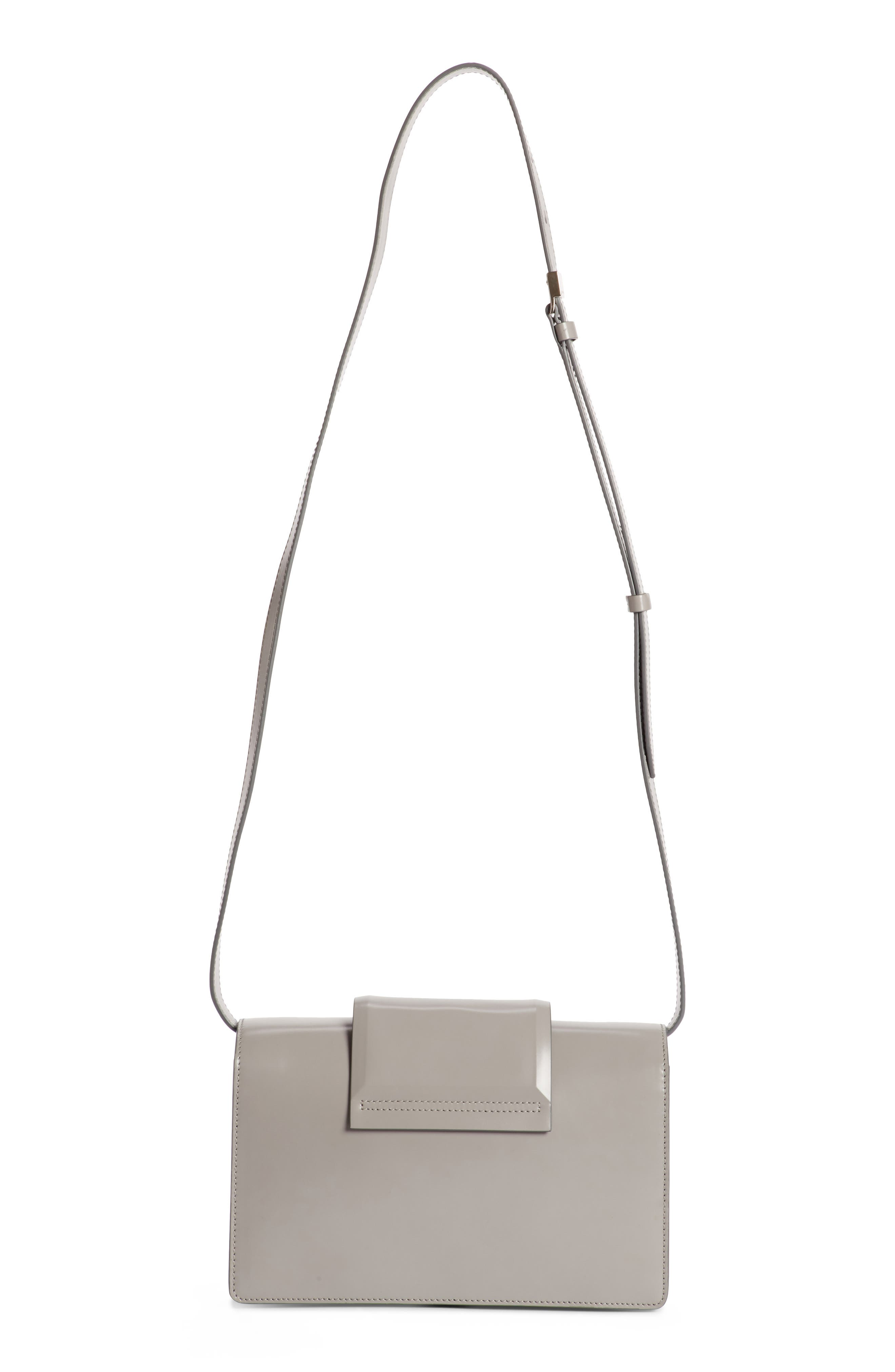 Small Infinity Calfskin Leather Shoulder Bag,                             Alternate thumbnail 3, color,
