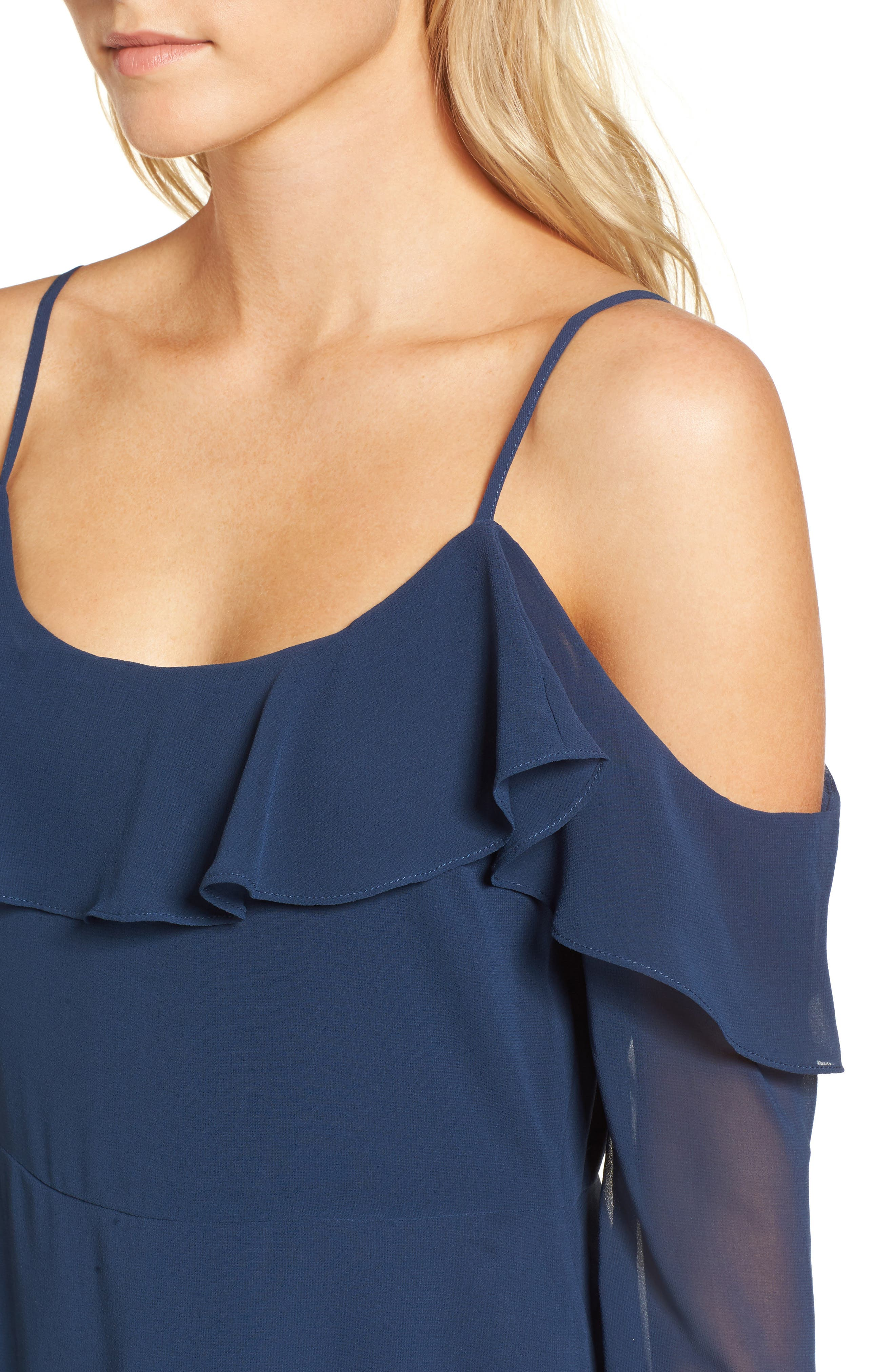 Sundra Cold Shoulder Dress,                             Alternate thumbnail 4, color,                             400