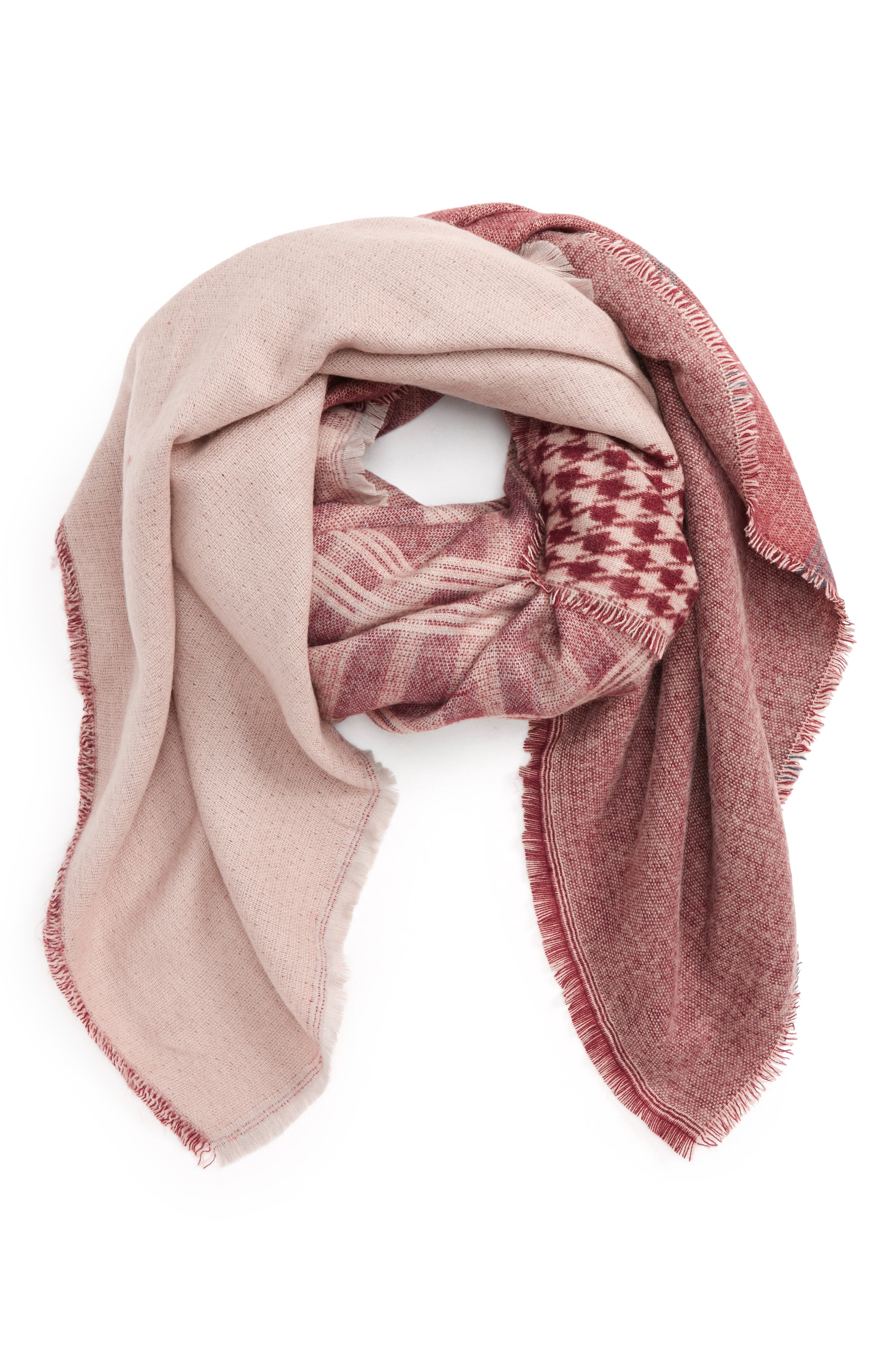 Mixed Pattern Square Scarf,                         Main,                         color, 930