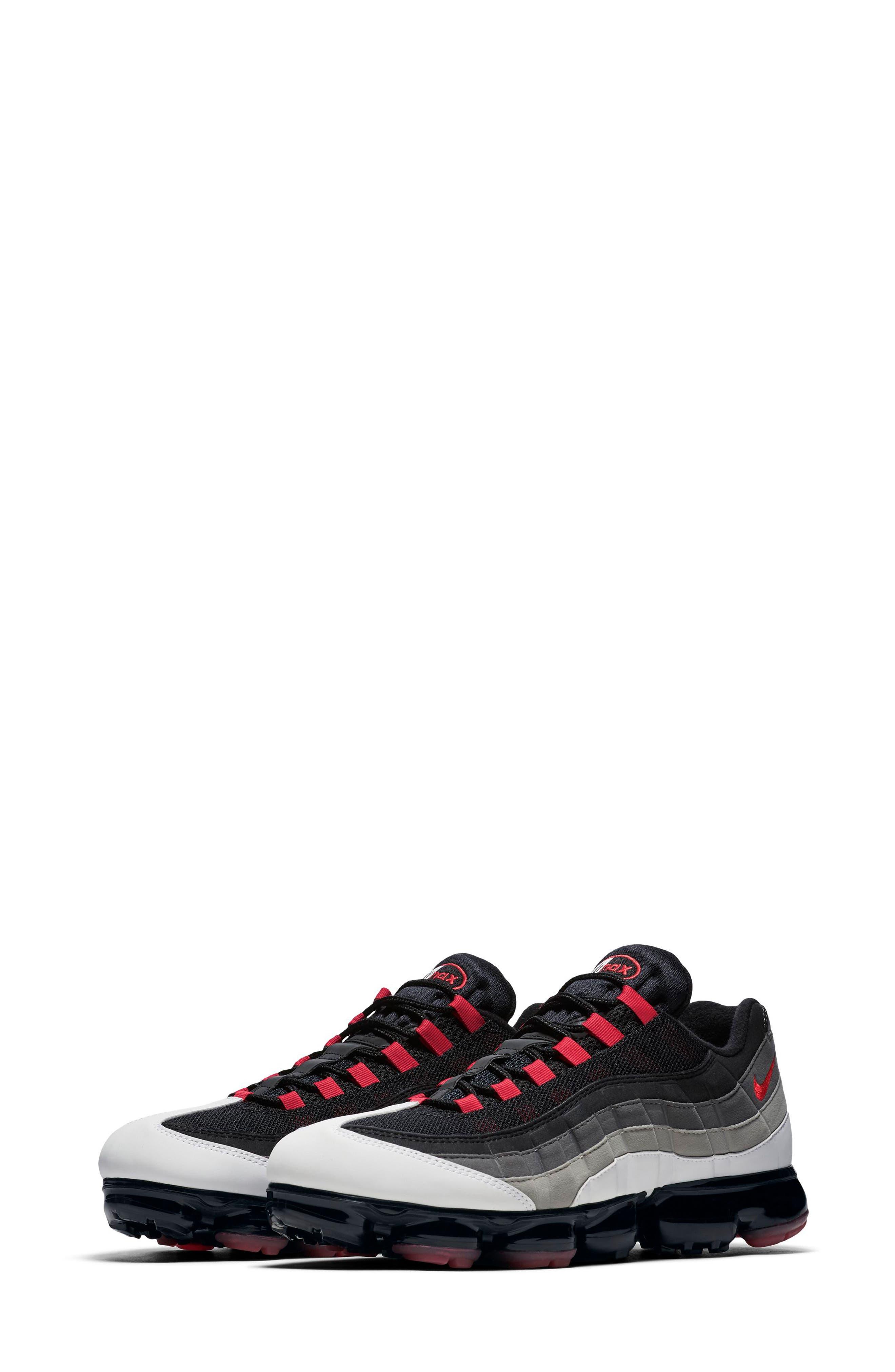 Air VaporMax '95 Sneaker,                         Main,                         color, WHITE/ RED/ PEWTER/ GRANITE