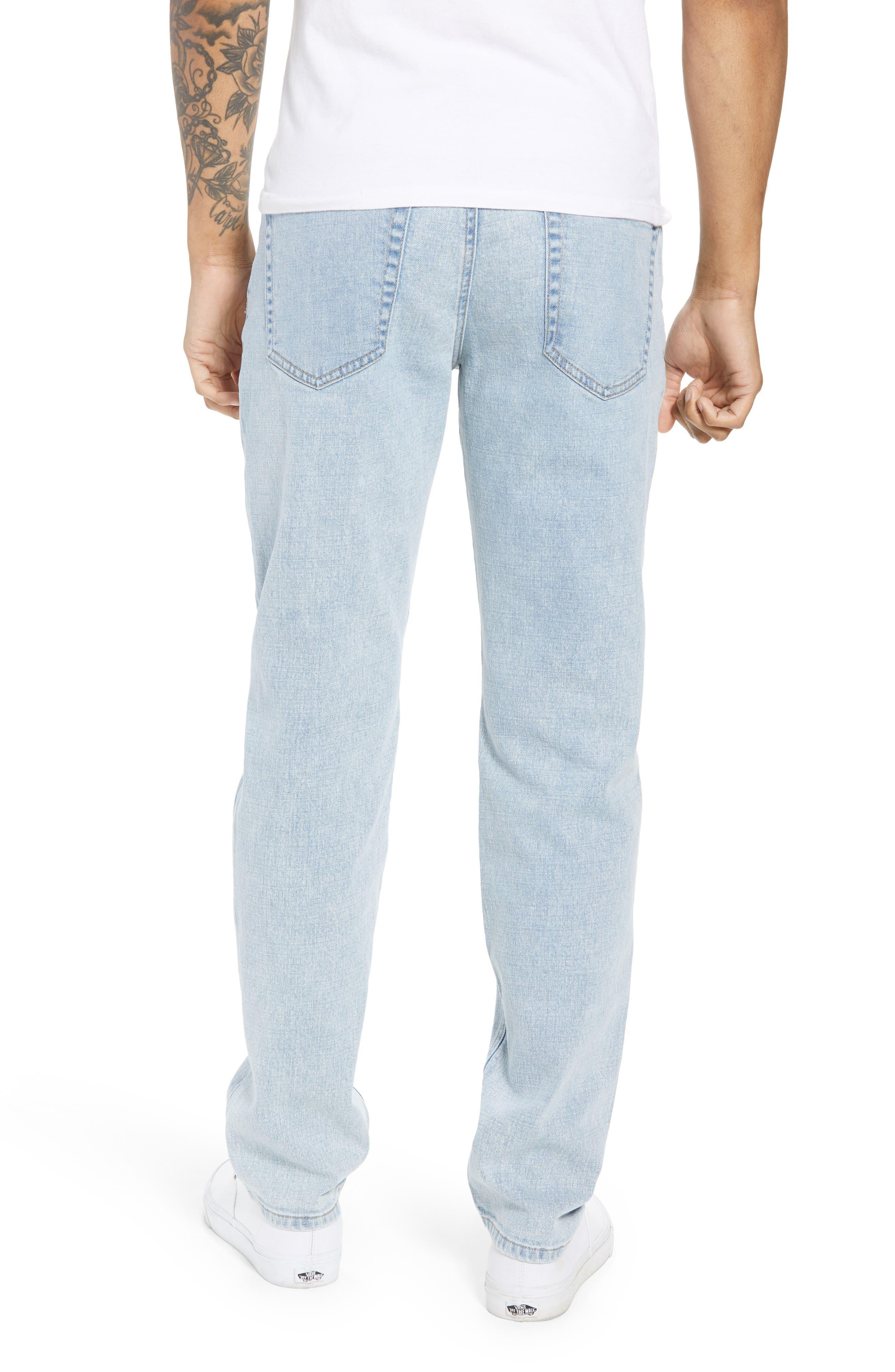 Acid Wash Stretch Slim Leg Jeans,                             Alternate thumbnail 2, color,                             BLUE VEDDER WASH
