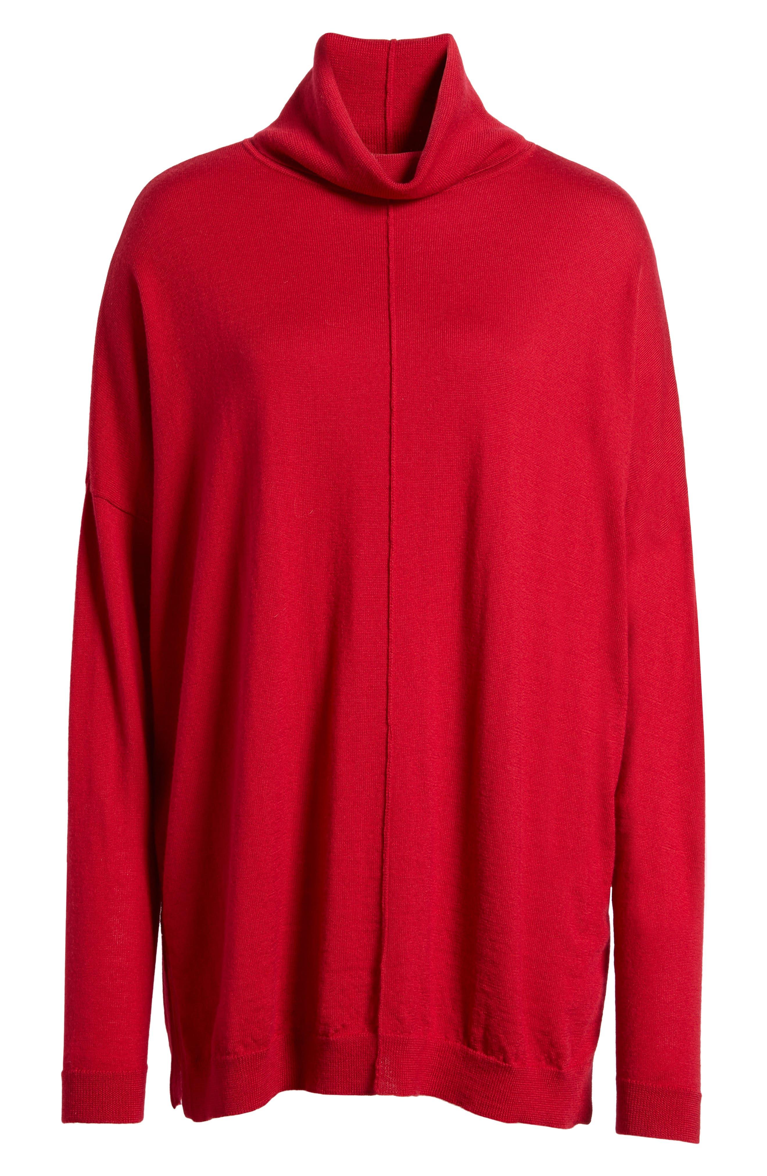 Merino Wool Boxy Turtleneck Sweater,                             Alternate thumbnail 36, color,