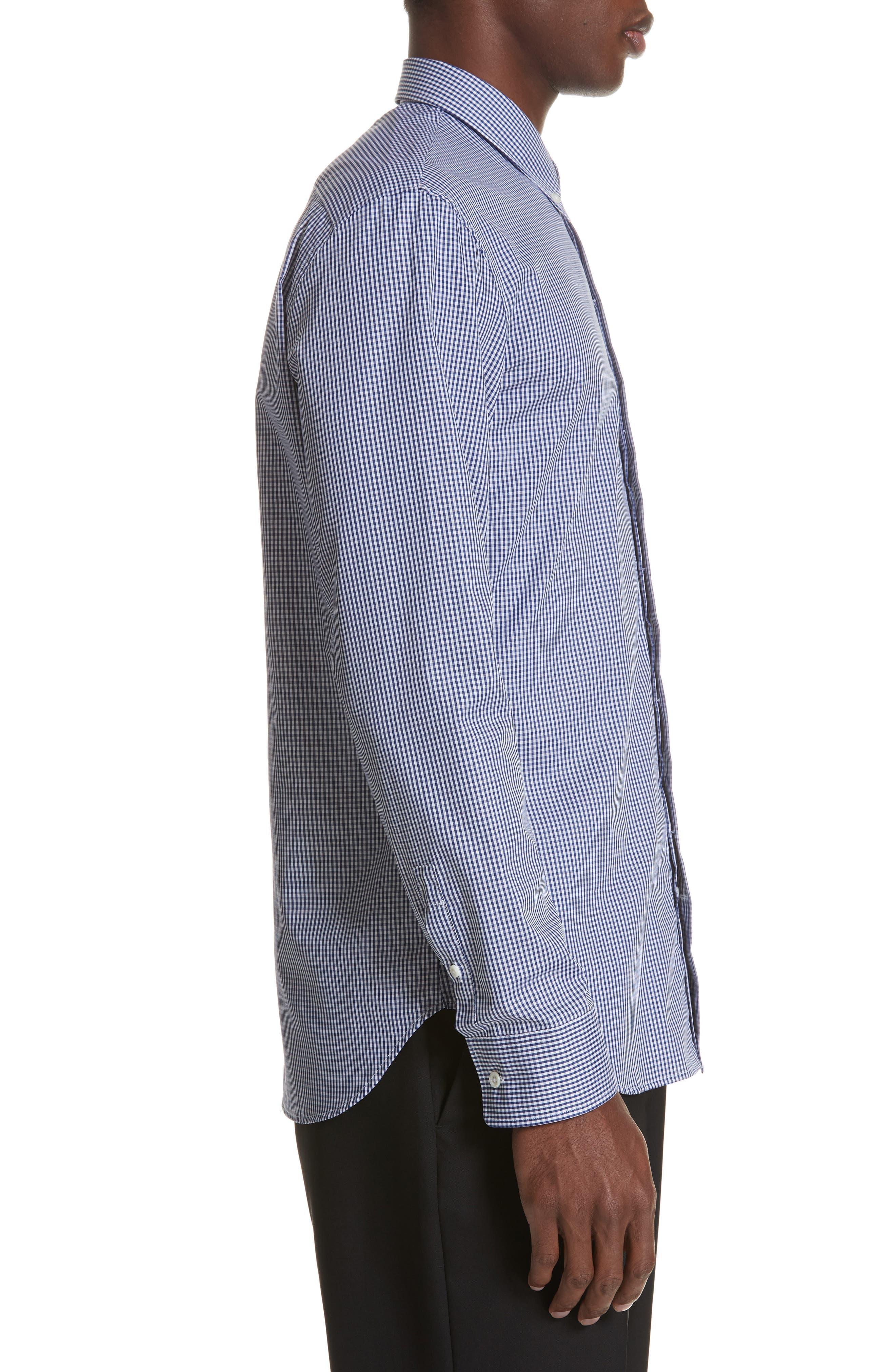 Gingham Woven Sport Shirt,                             Alternate thumbnail 3, color,                             BLUE