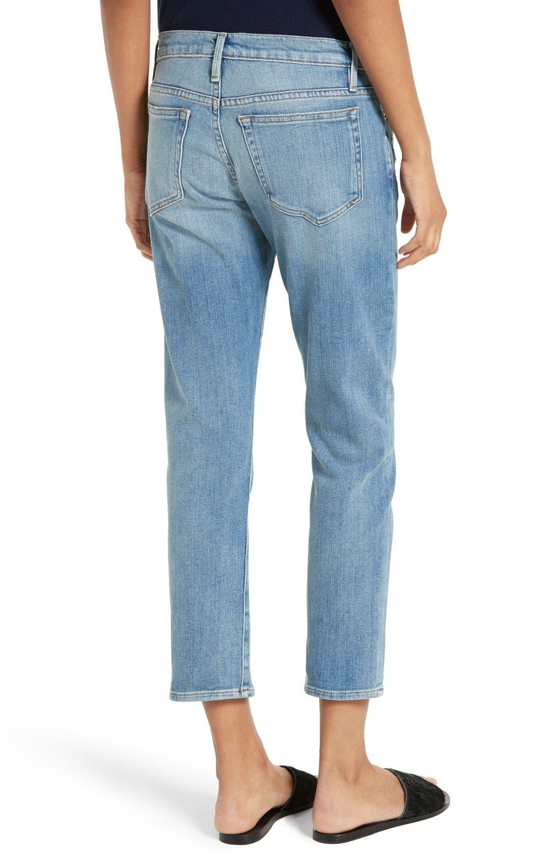 Le Boy Crop Jeans,                             Alternate thumbnail 3, color,                             420