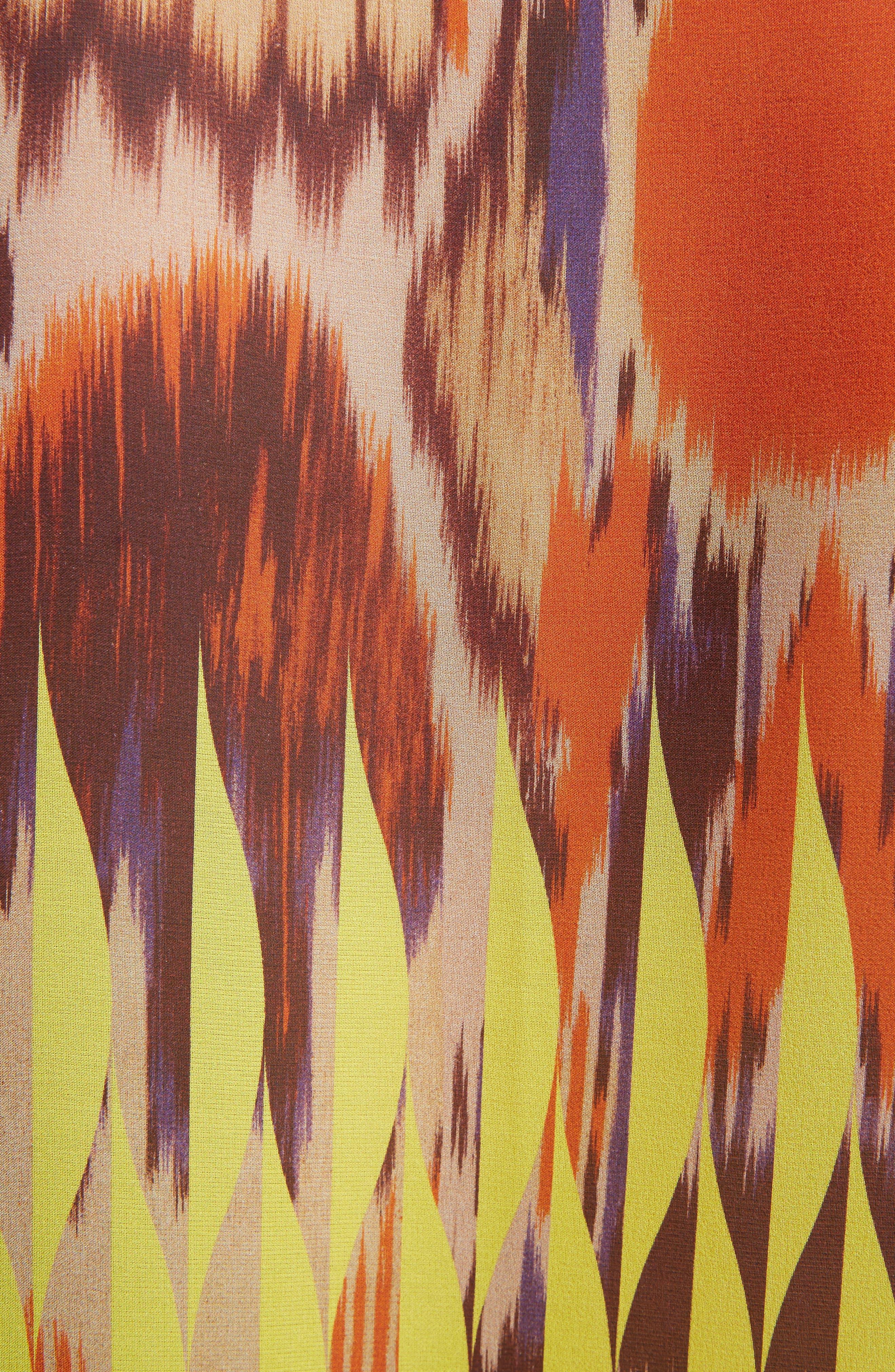 Sheer Ikat Silk Blouse,                             Alternate thumbnail 5, color,                             700
