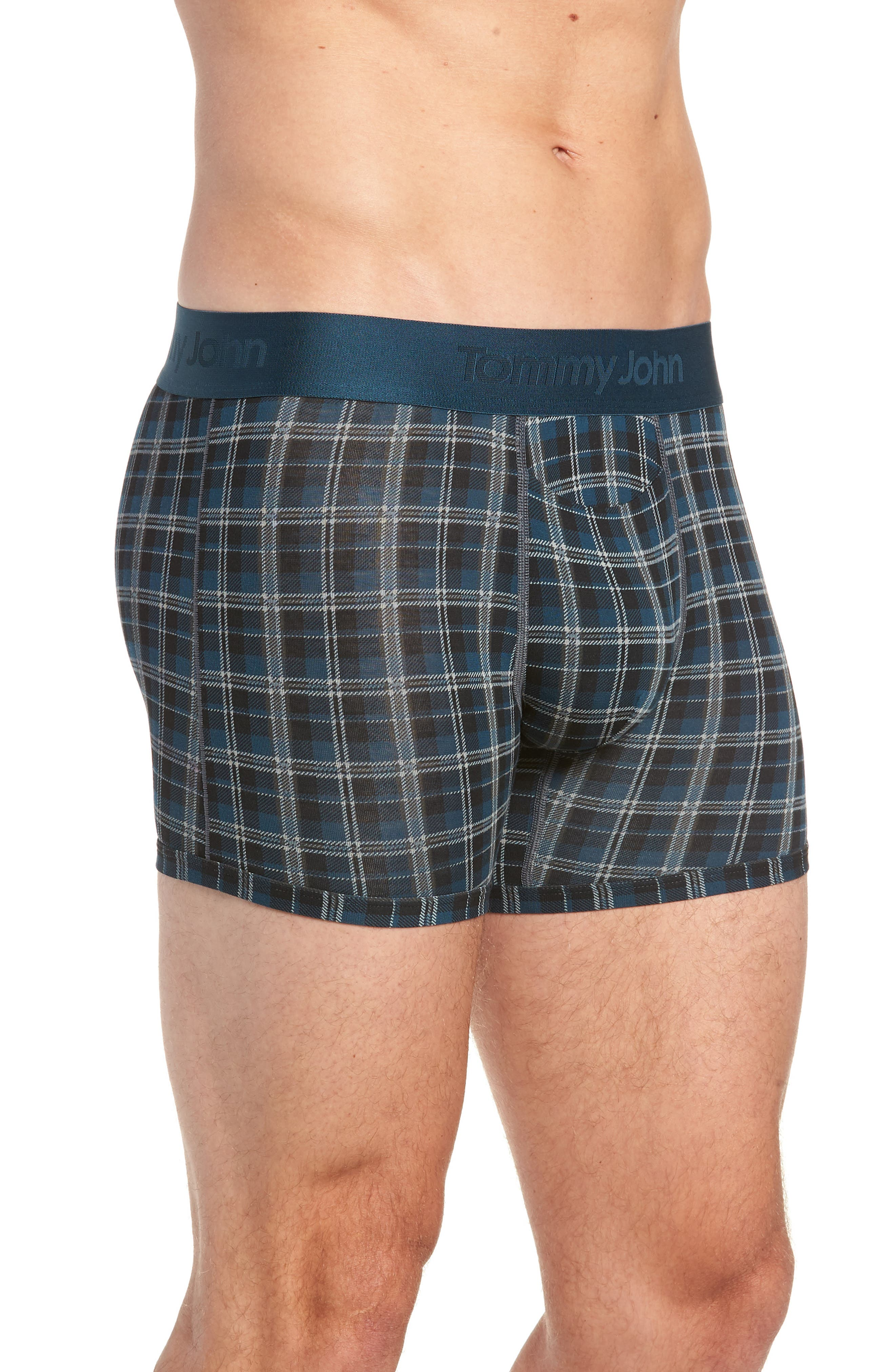 Second Skin Plaid Trunks,                             Alternate thumbnail 3, color,                             REFLECTING POND
