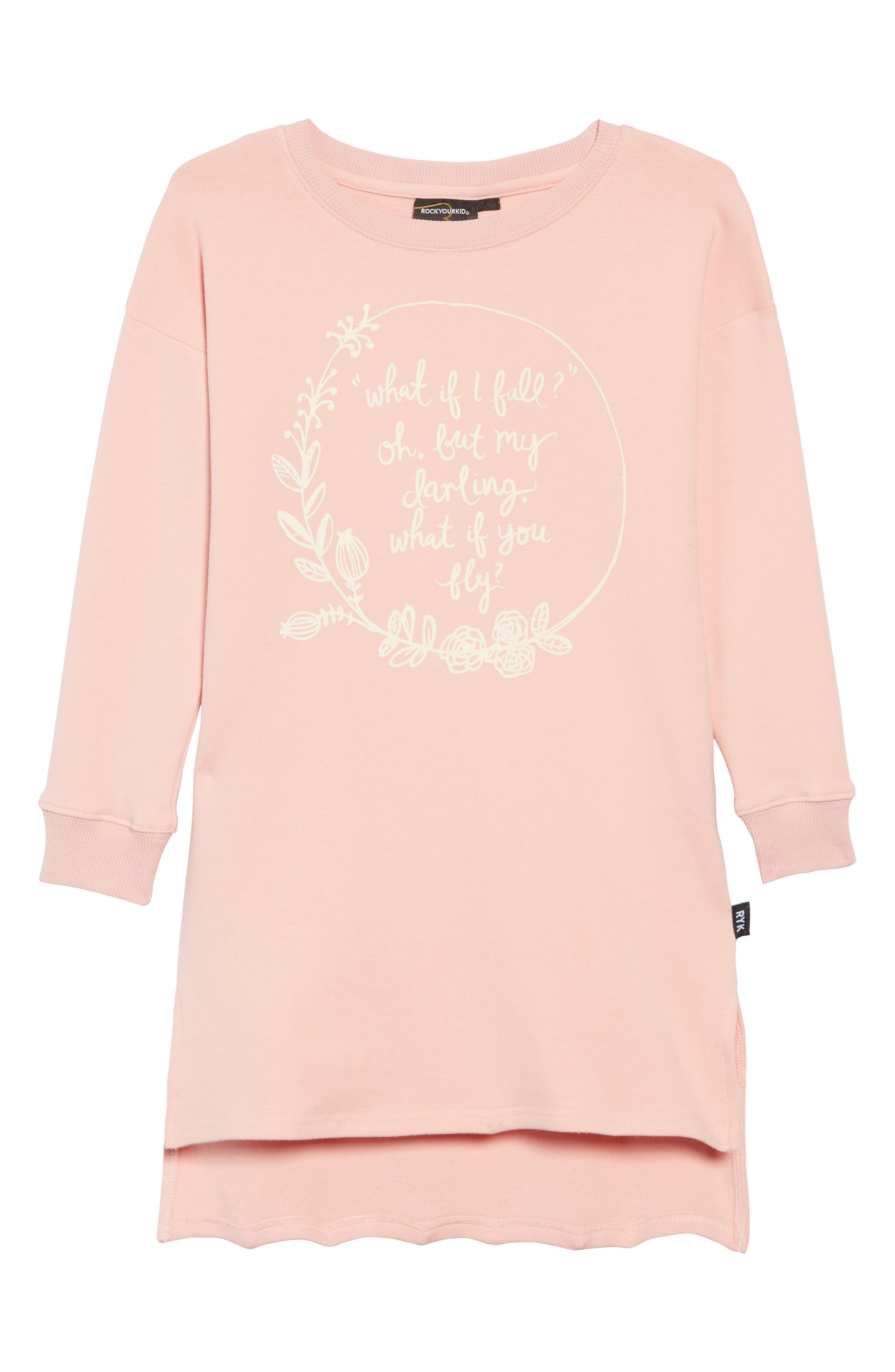 What If I Fall T-Shirt Dress,                         Main,                         color, 650
