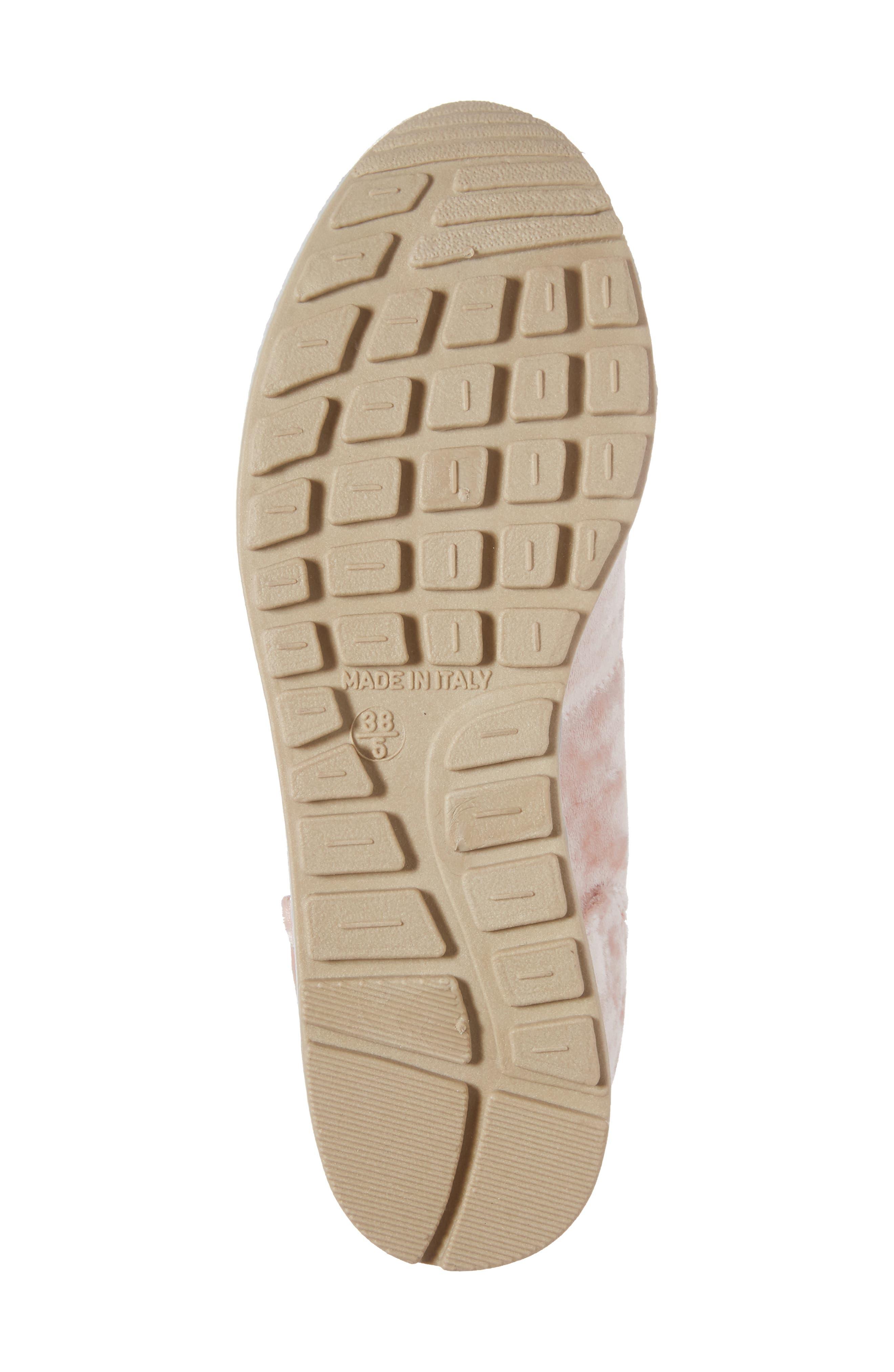 Croatia Velvet Sneaker,                             Alternate thumbnail 6, color,                             650