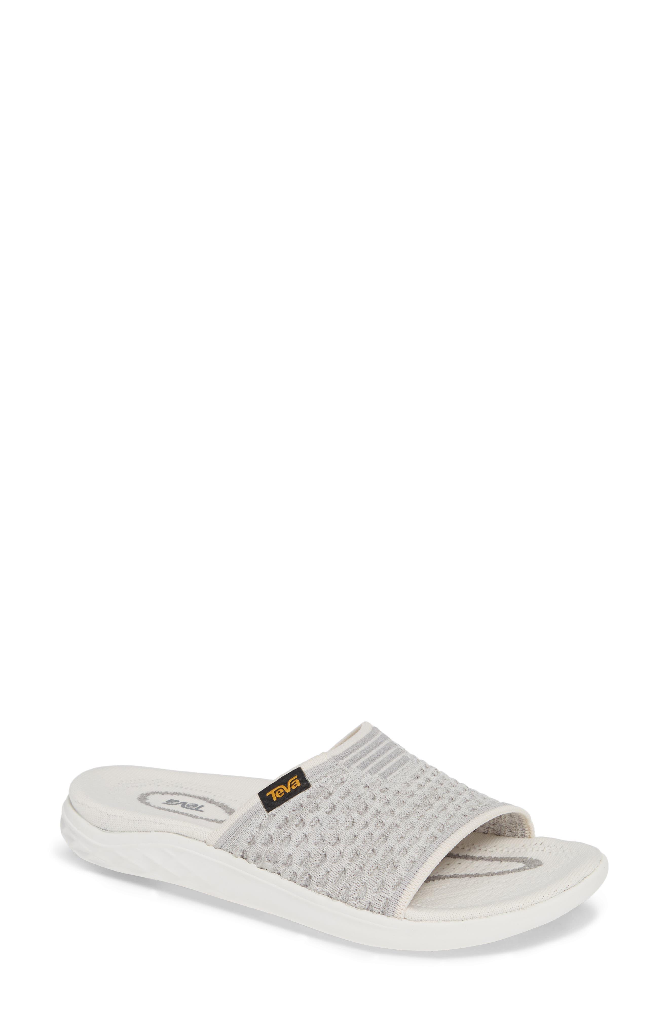 Terra Float 2 Knit Slide Sandal,                             Main thumbnail 1, color,                             BRIGHT WHITE FABRIC