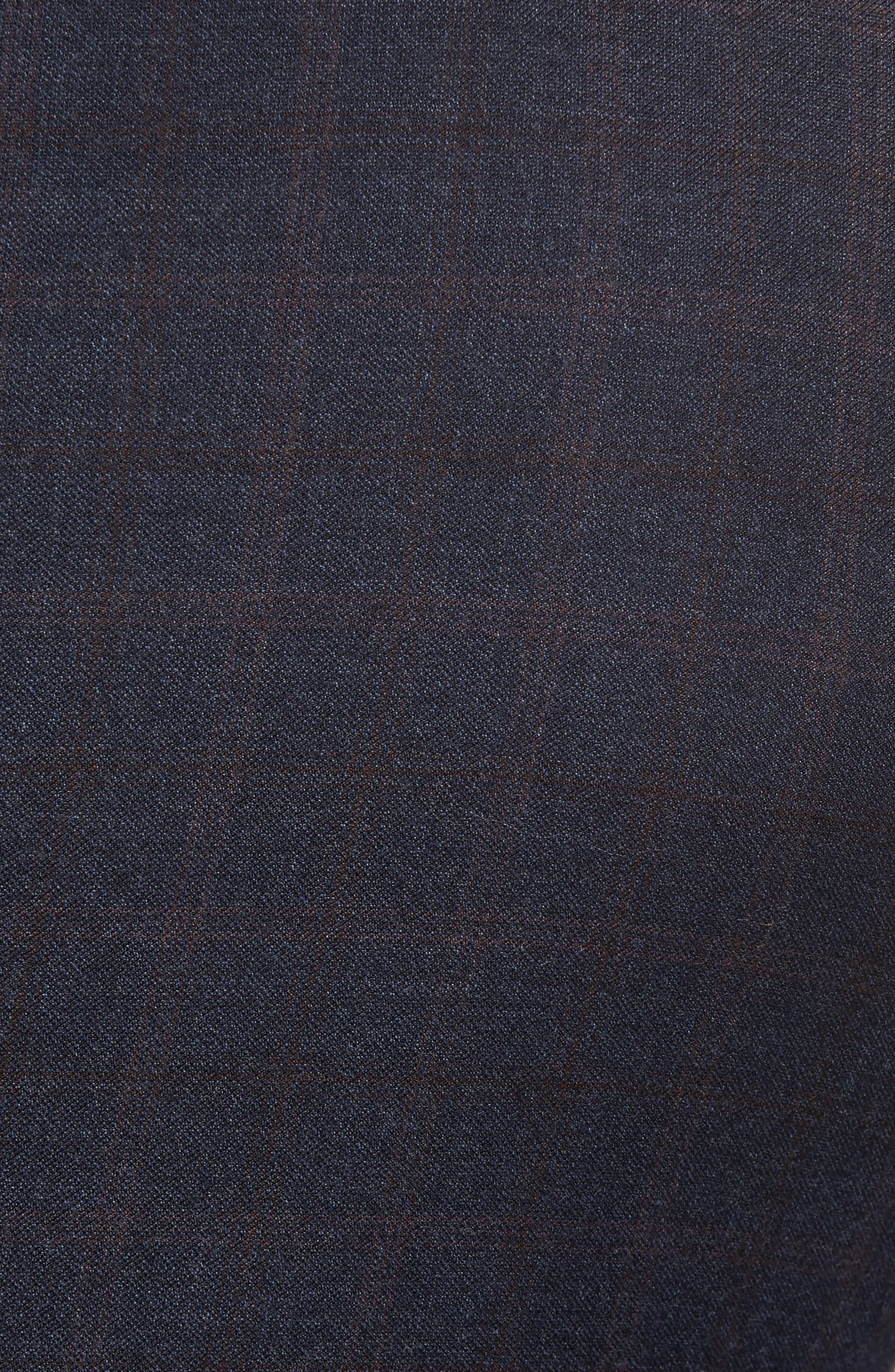 Jay Trim Fit Plaid Wool Suit,                             Alternate thumbnail 7, color,