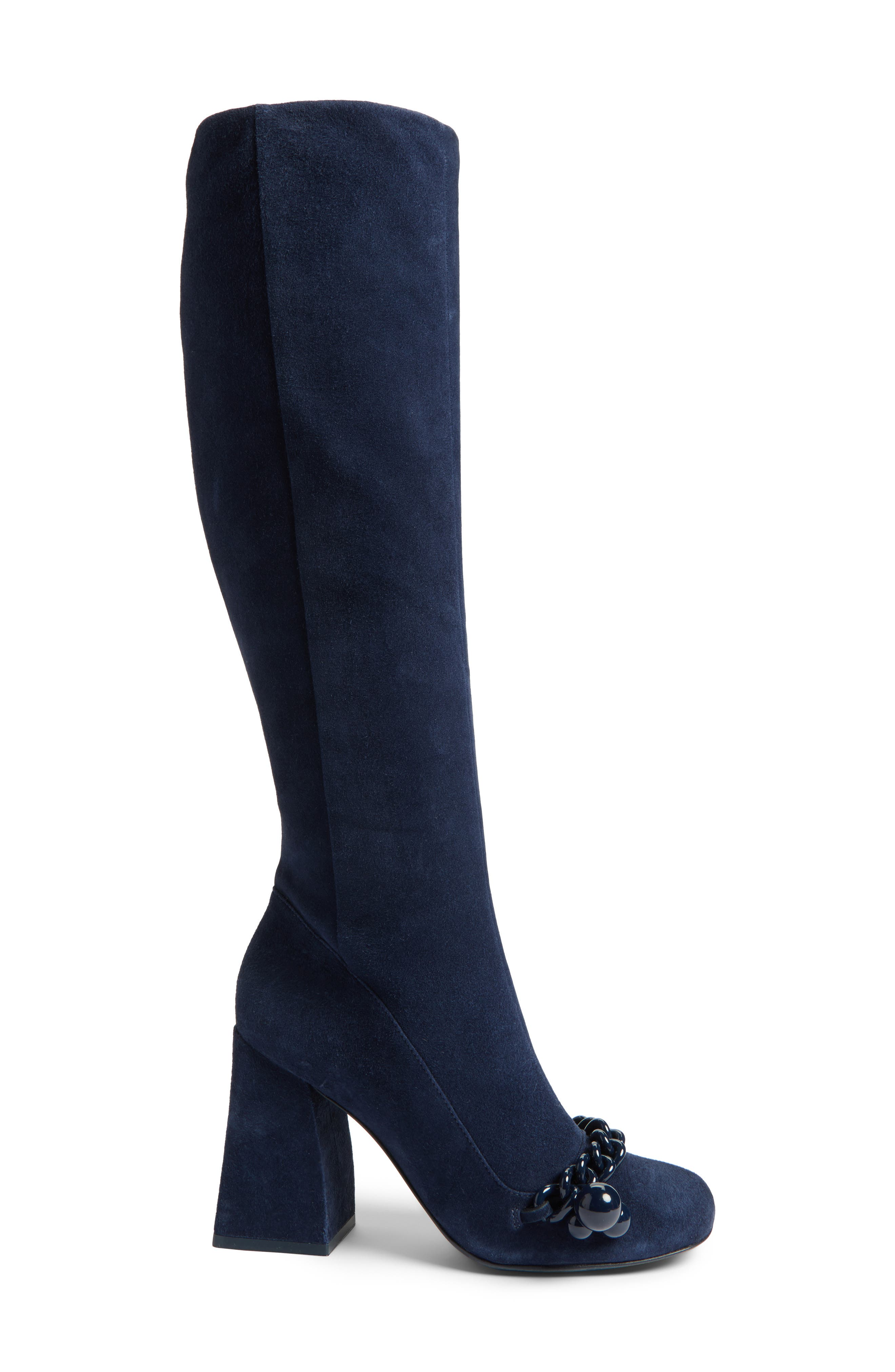 Addison Flared Heel Boot,                             Alternate thumbnail 3, color,                             403
