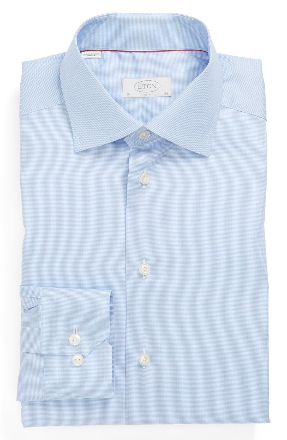 Slim Fit Houndstooth Dress Shirt,                         Main,                         color, 400