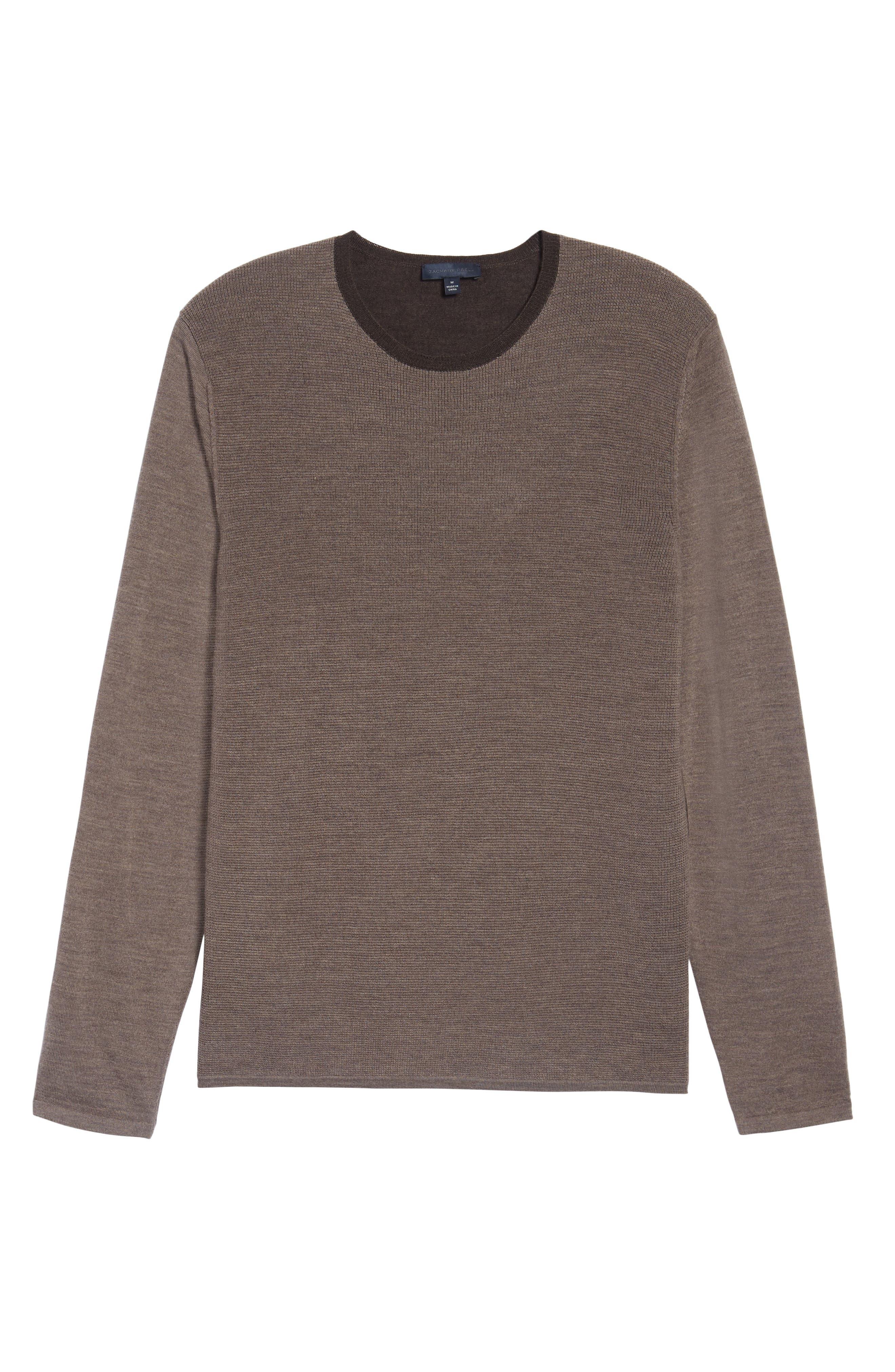 Huxley Merino Sweater,                             Alternate thumbnail 6, color,                             LIGHT COFFEE