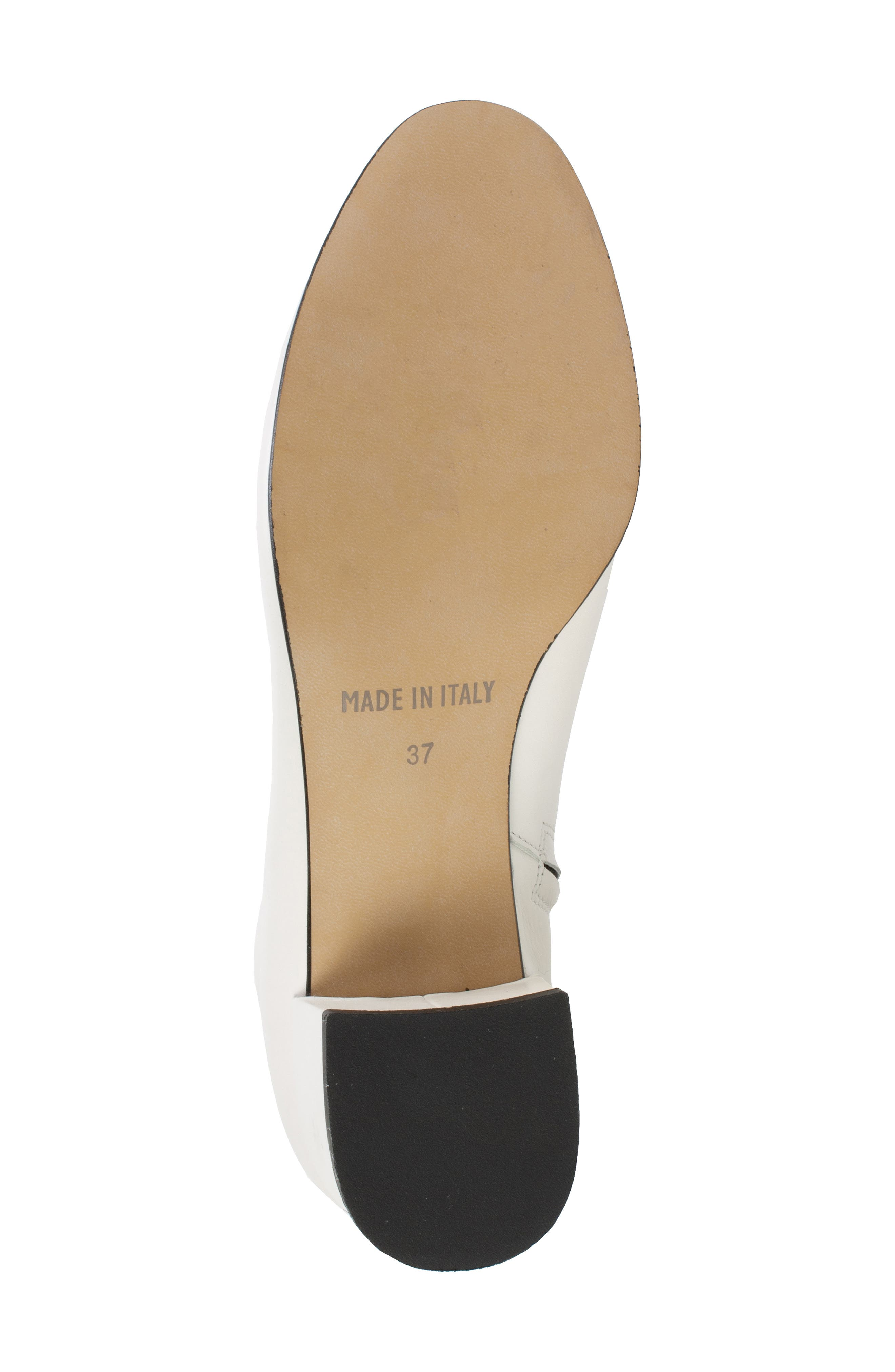 by White Mountain Jordie Block Heel Bootie,                             Alternate thumbnail 6, color,                             WHITE LEATHER