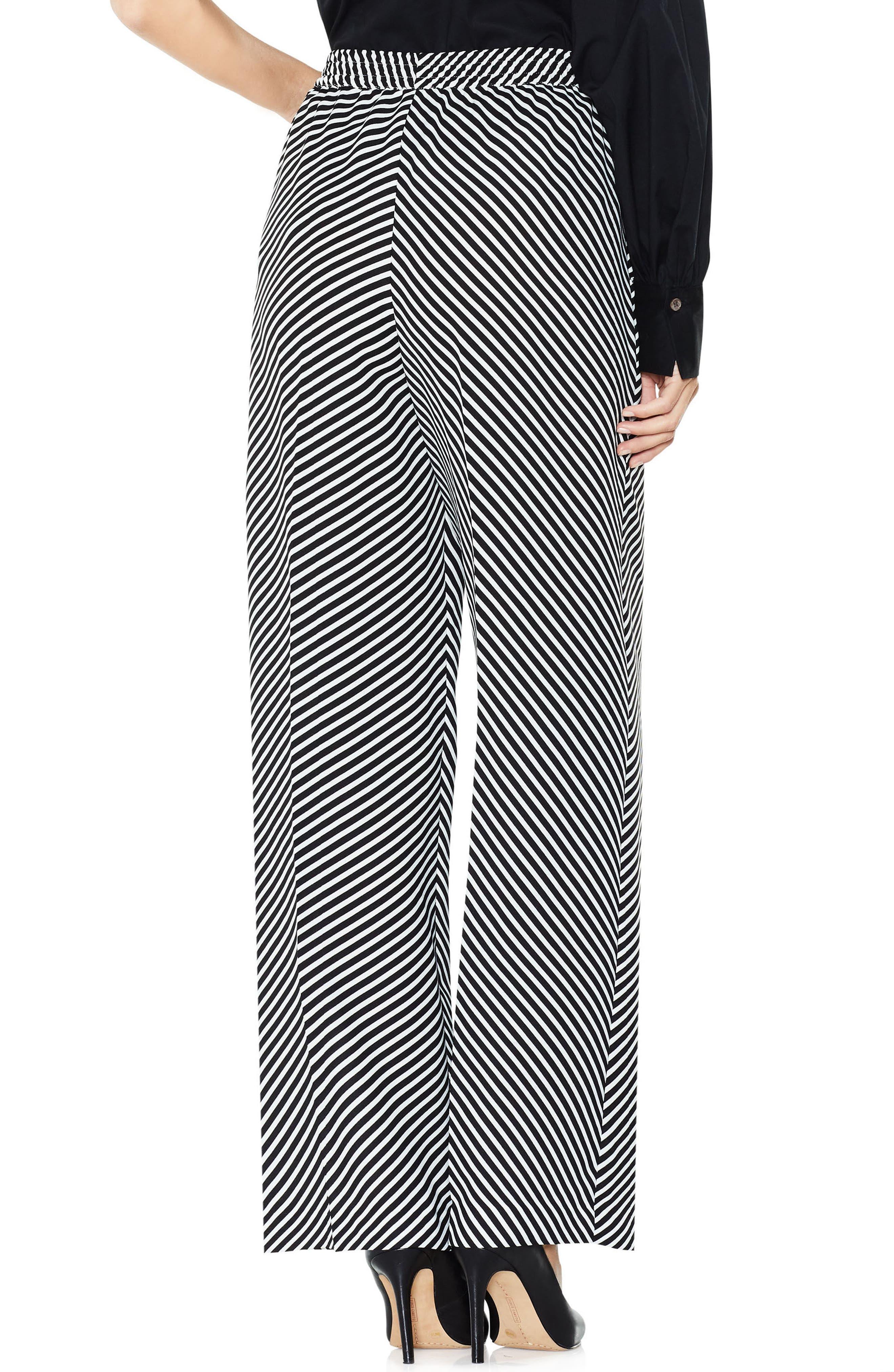 Diagonal Stripe Wide Leg Pants,                             Alternate thumbnail 3, color,                             006