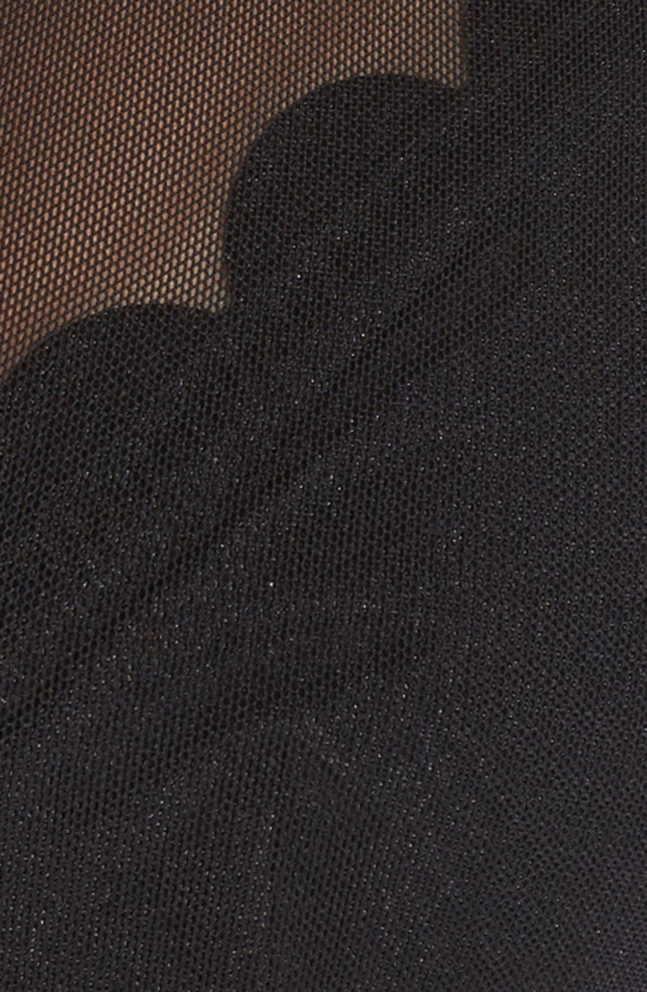 Scallop Mesh Underwire Bikini Top,                             Alternate thumbnail 6, color,                             001
