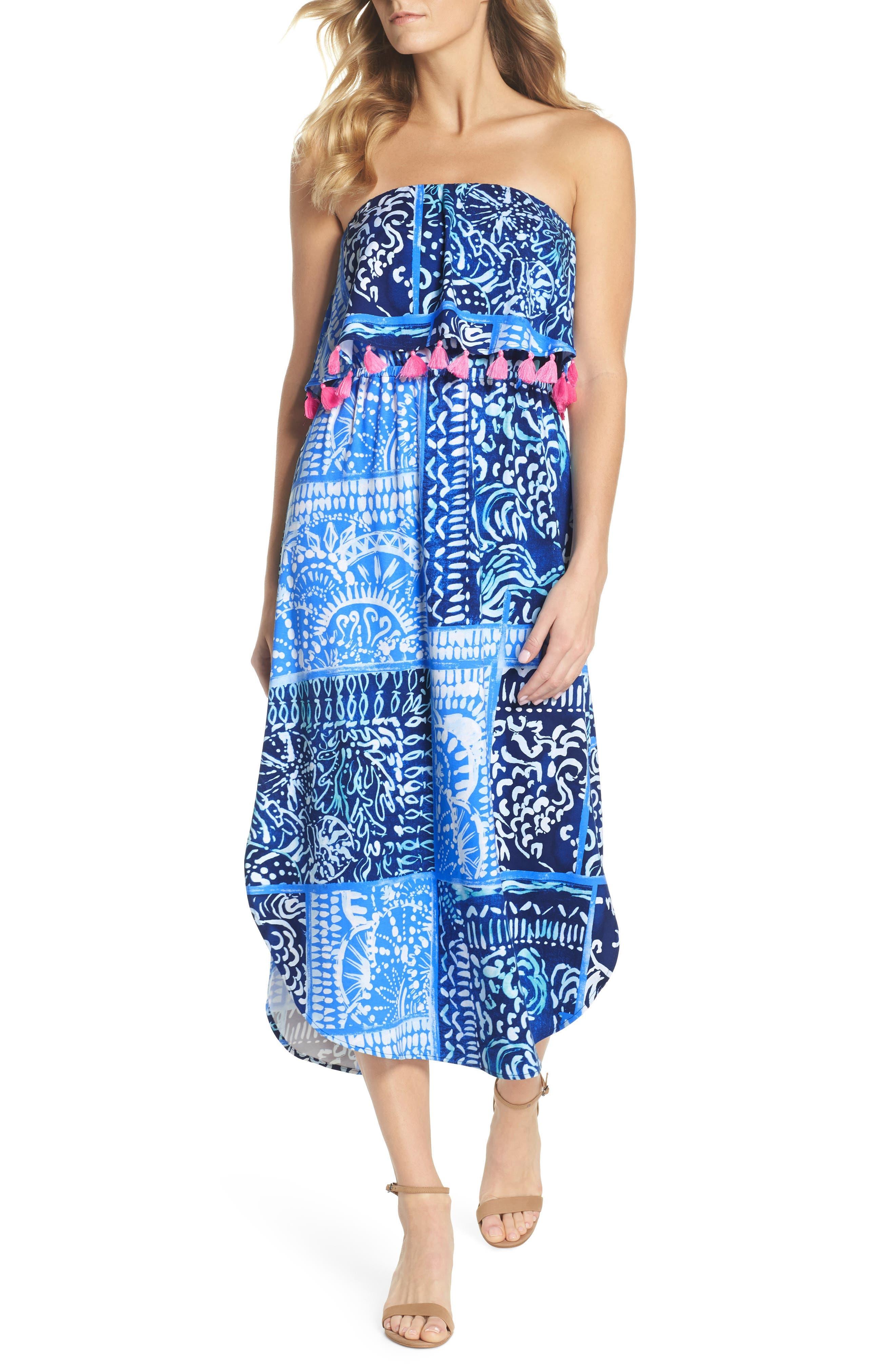 Lilly Pulitzer Meridian Strapless Midi Dress