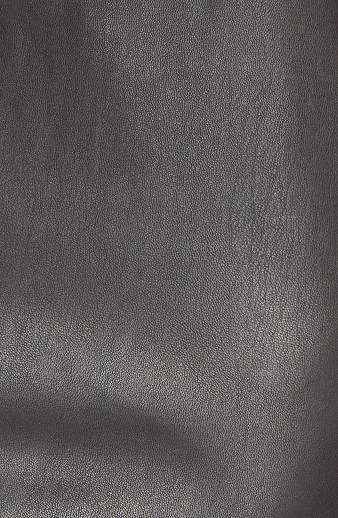 JUNAROSE,                             'Kanya' Faux Leather Shift Dress,                             Alternate thumbnail 4, color,                             001