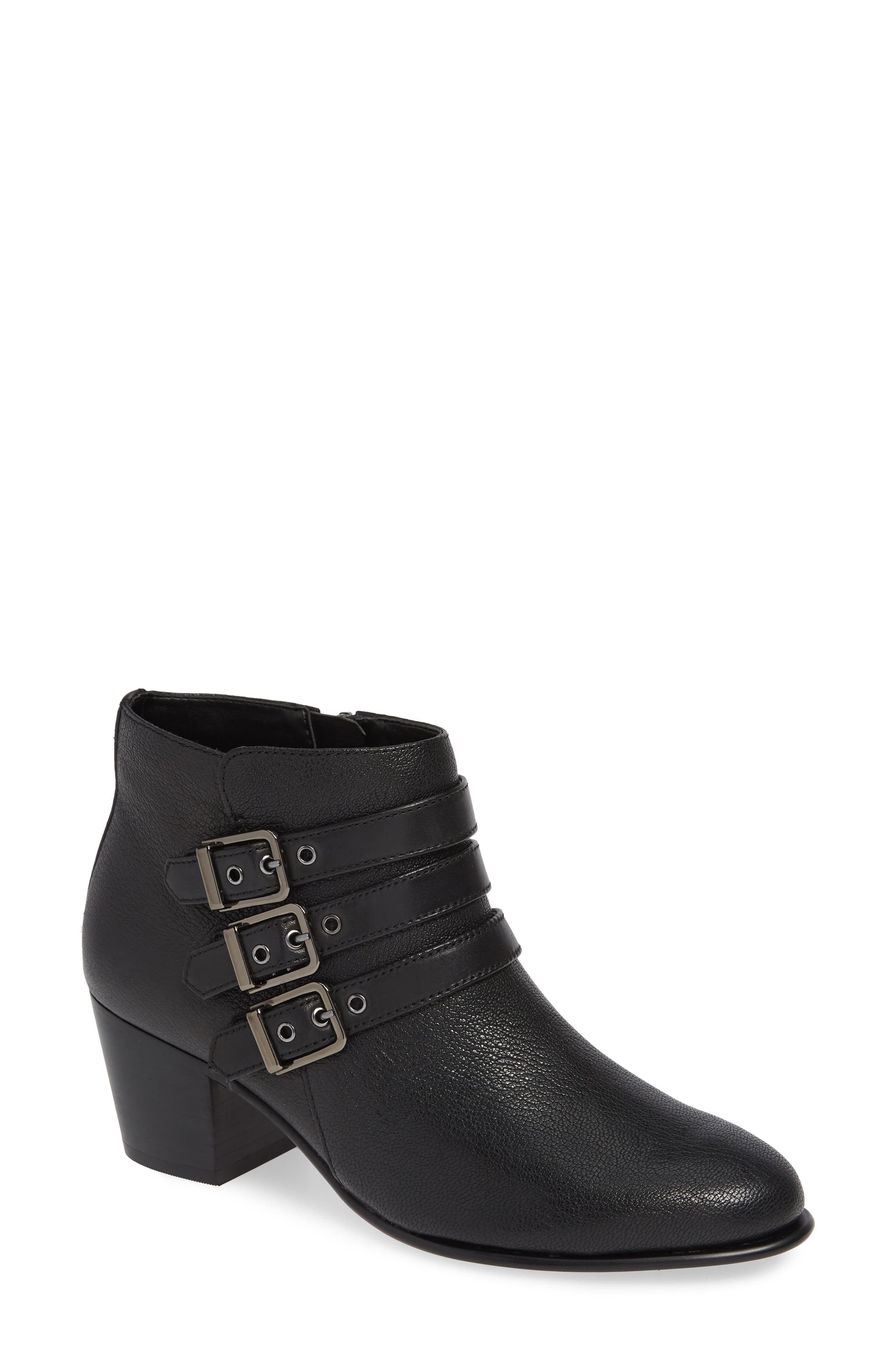 Maypearl Rayna Boot,                             Main thumbnail 1, color,                             BLACK TUMBLED LEATHER
