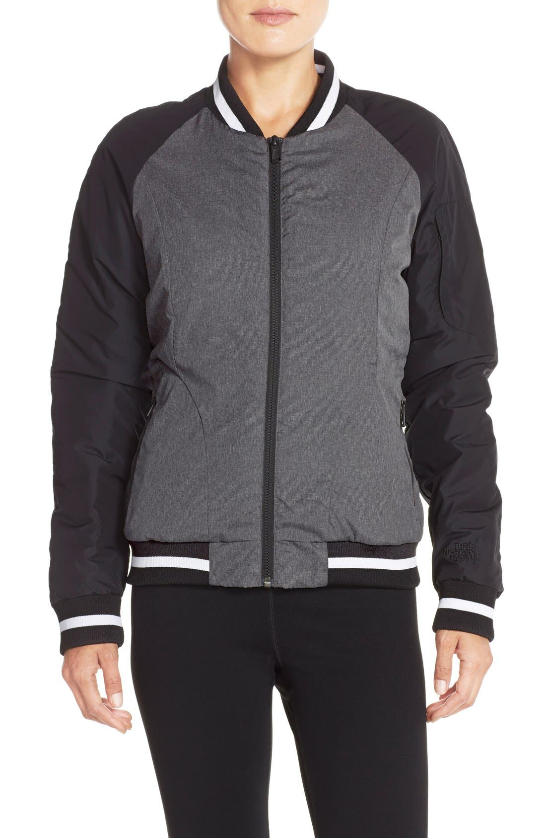 'Rydell' Water Resistant Heatseeker<sup>™</sup> Insulated Bomber Jacket,                             Main thumbnail 1, color,                             001