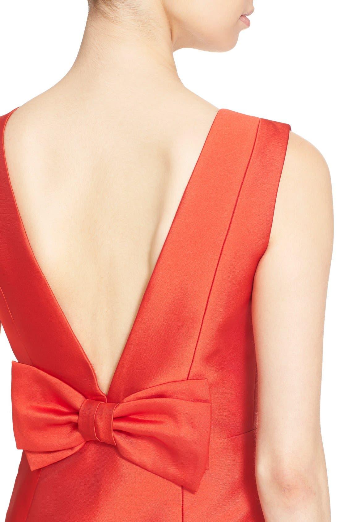 open back bow dress,                             Alternate thumbnail 5, color,                             601