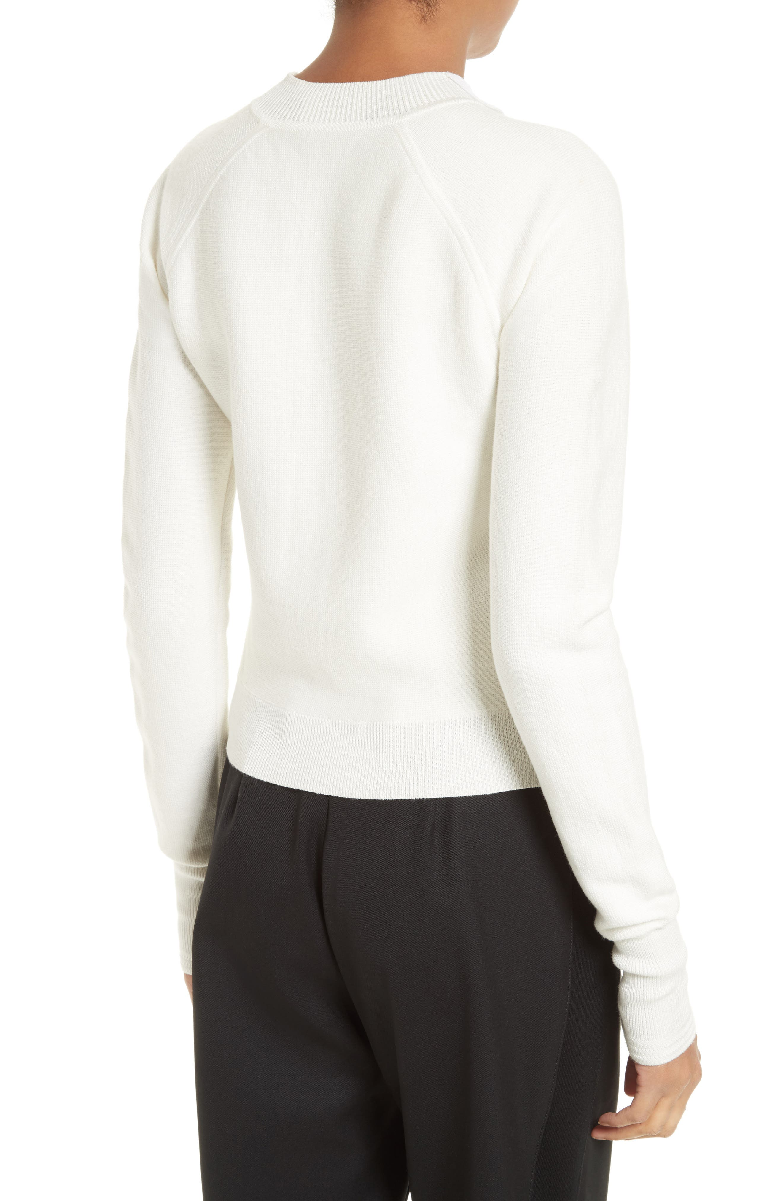 Ruffle Front Zip Pullover,                             Alternate thumbnail 2, color,