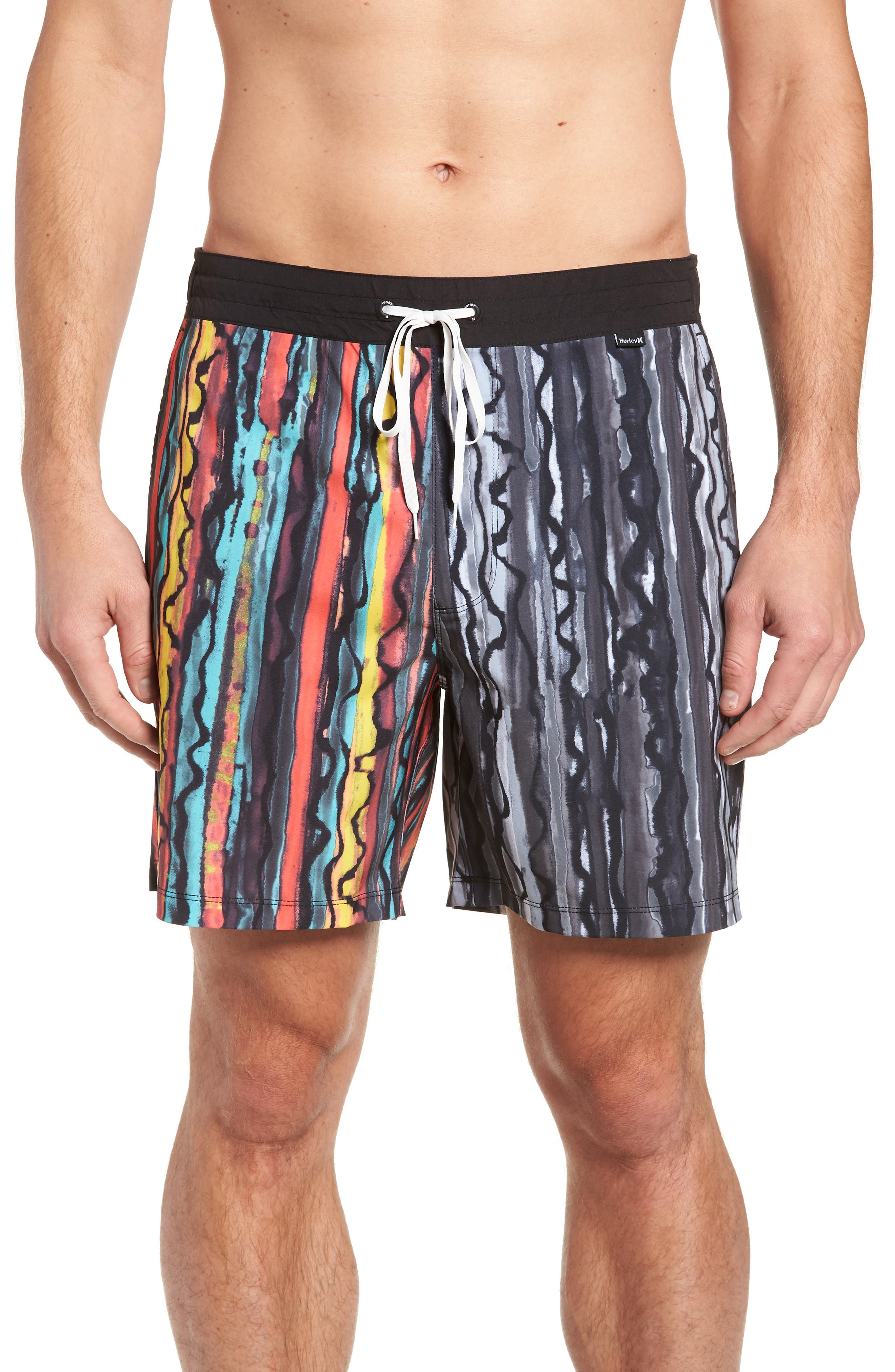 Hurley Phantom Glass Shop Valley Swim Trunks, Black