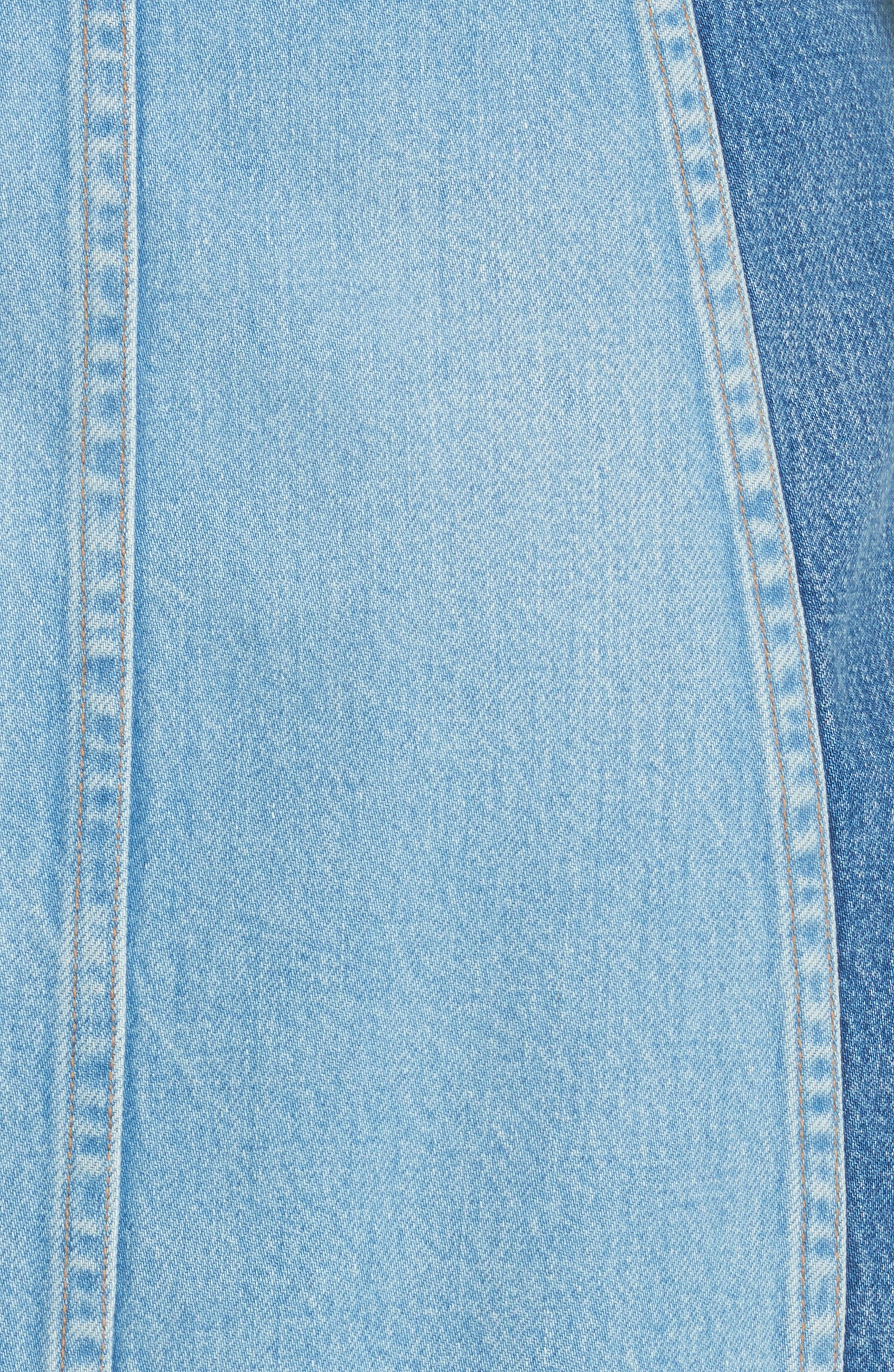 Eloise High Rise Denim Miniskirt,                             Alternate thumbnail 5, color,                             424