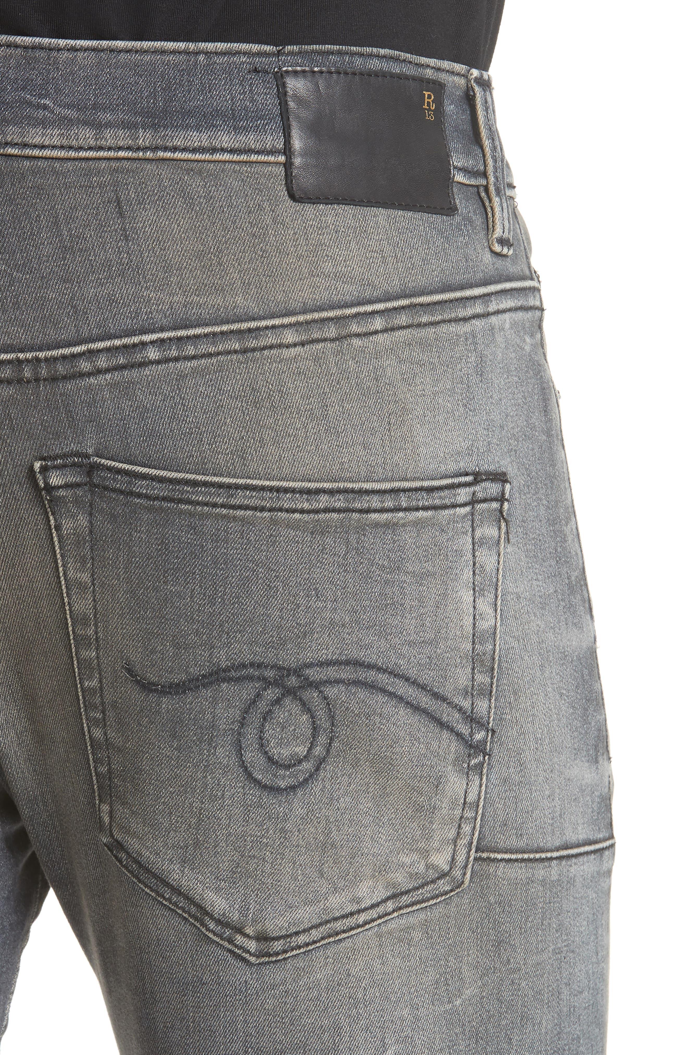 Skate Slim Fit Jeans,                             Alternate thumbnail 4, color,                             001