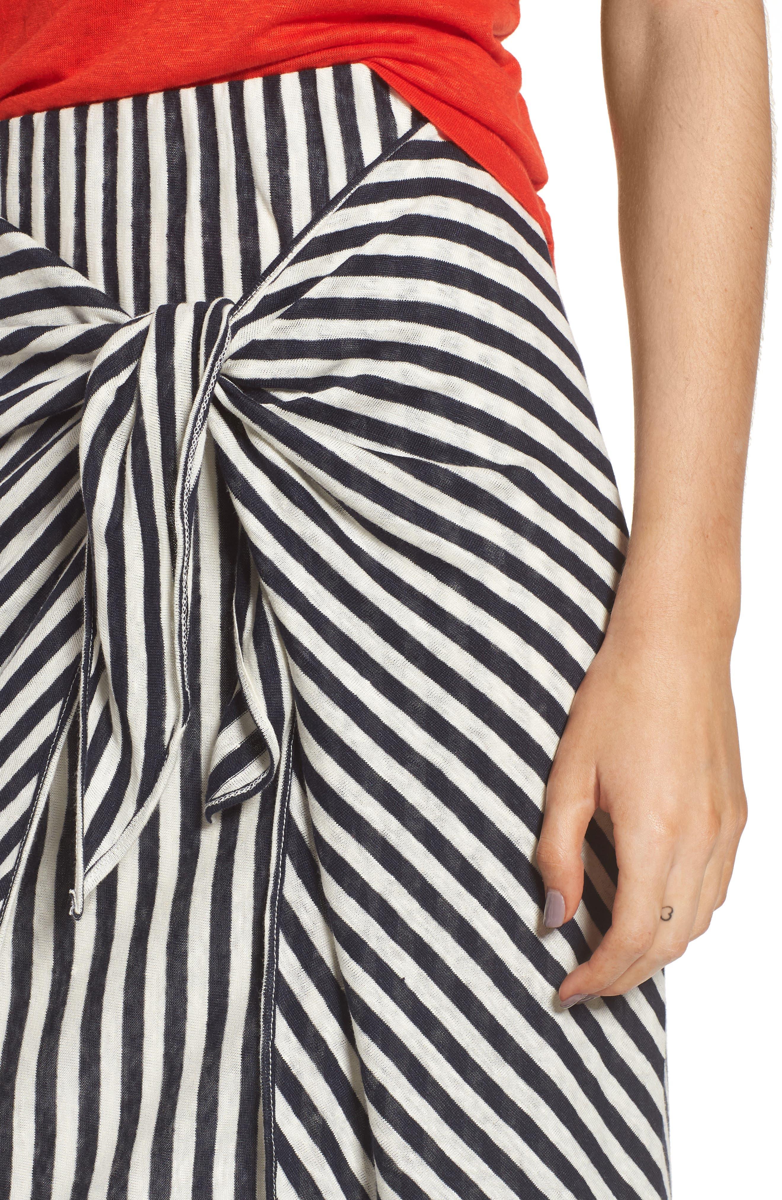 x Margherita Isola Stripe Sarong Skirt,                             Alternate thumbnail 4, color,                             461