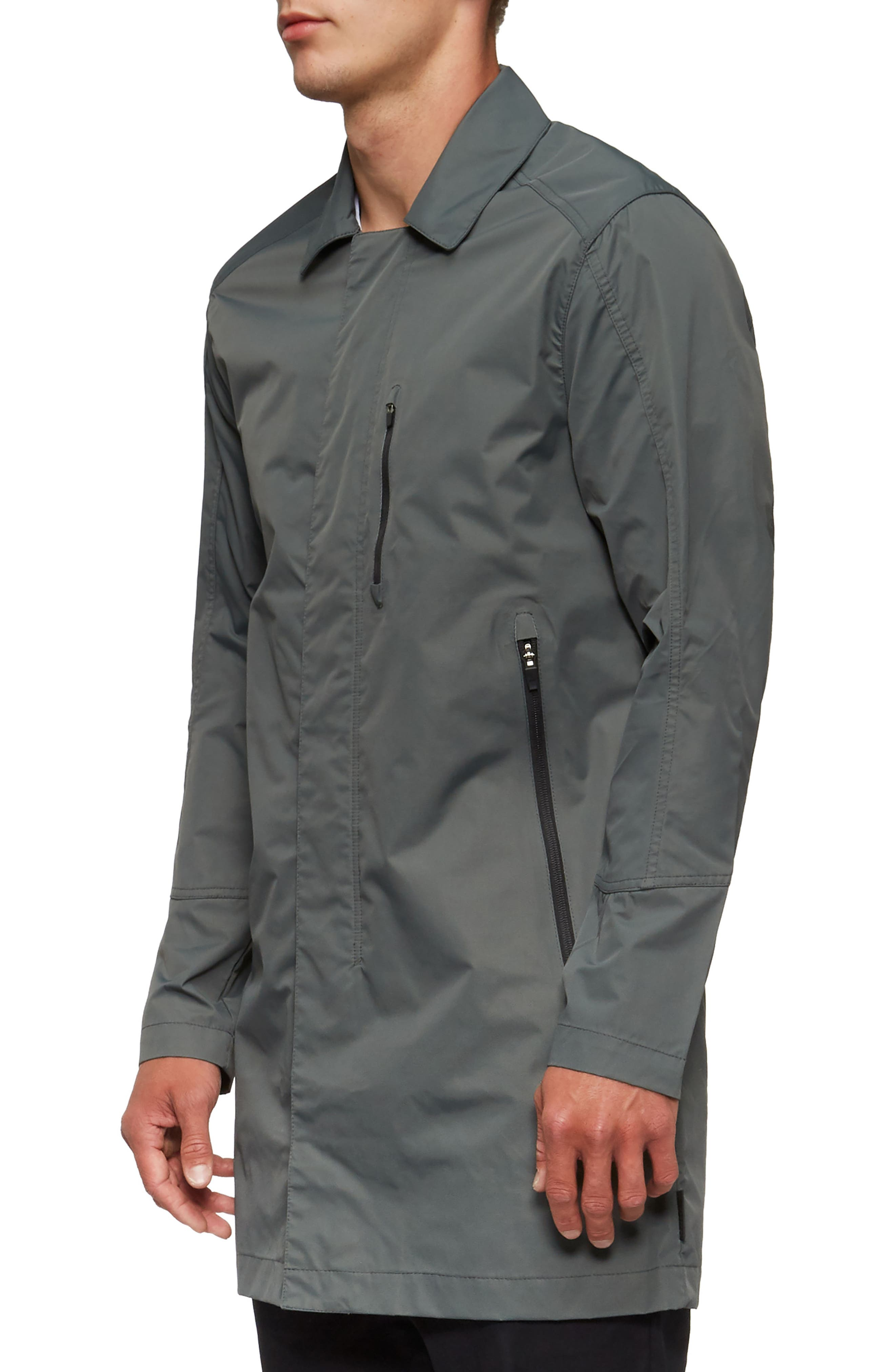 Deckard Weather Resistant Trench Coat,                             Alternate thumbnail 3, color,                             307