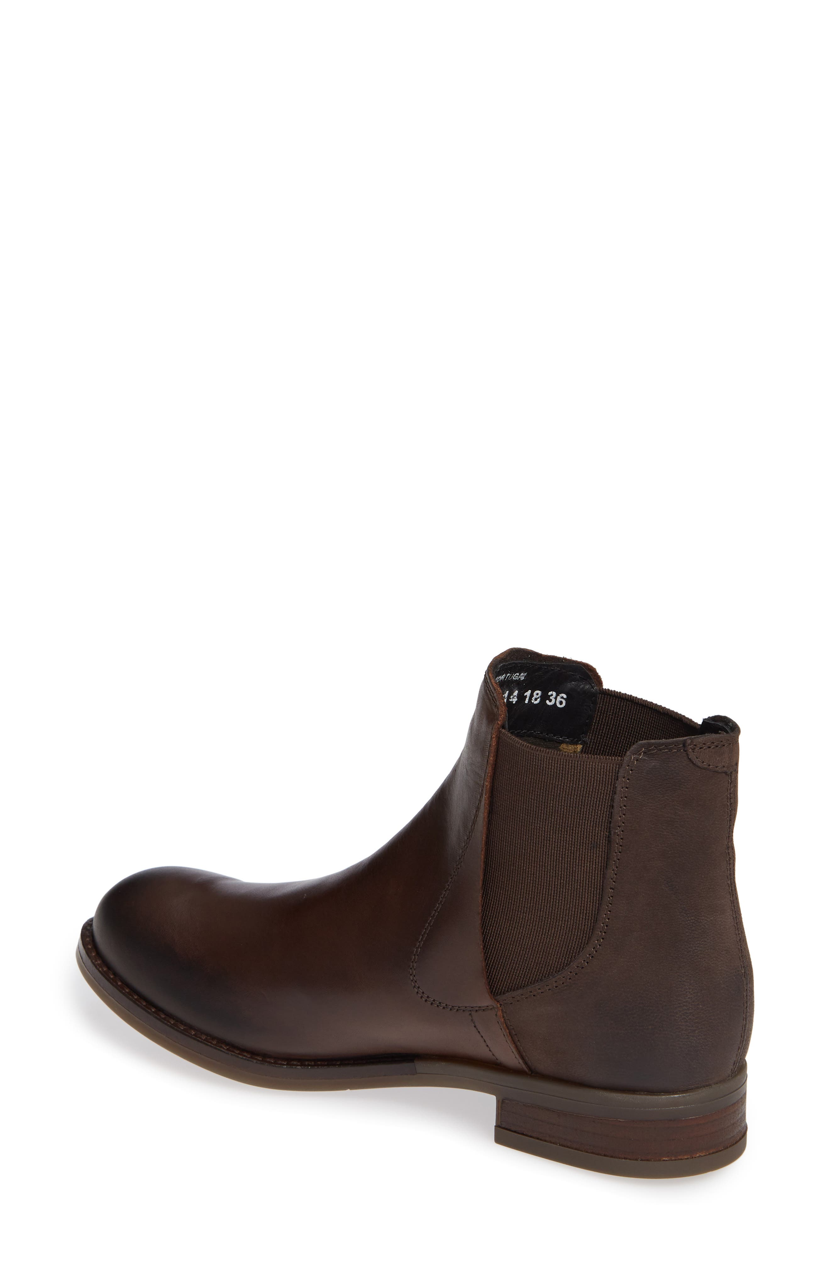 Alls Chelsea Bootie,                             Alternate thumbnail 2, color,                             DARK BROWN LEATHER