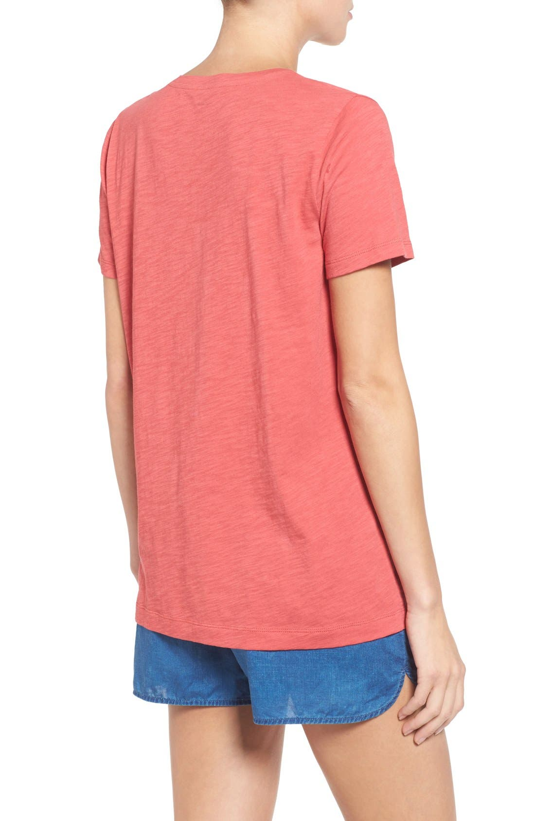Whisper Cotton V-Neck Pocket Tee,                             Alternate thumbnail 80, color,