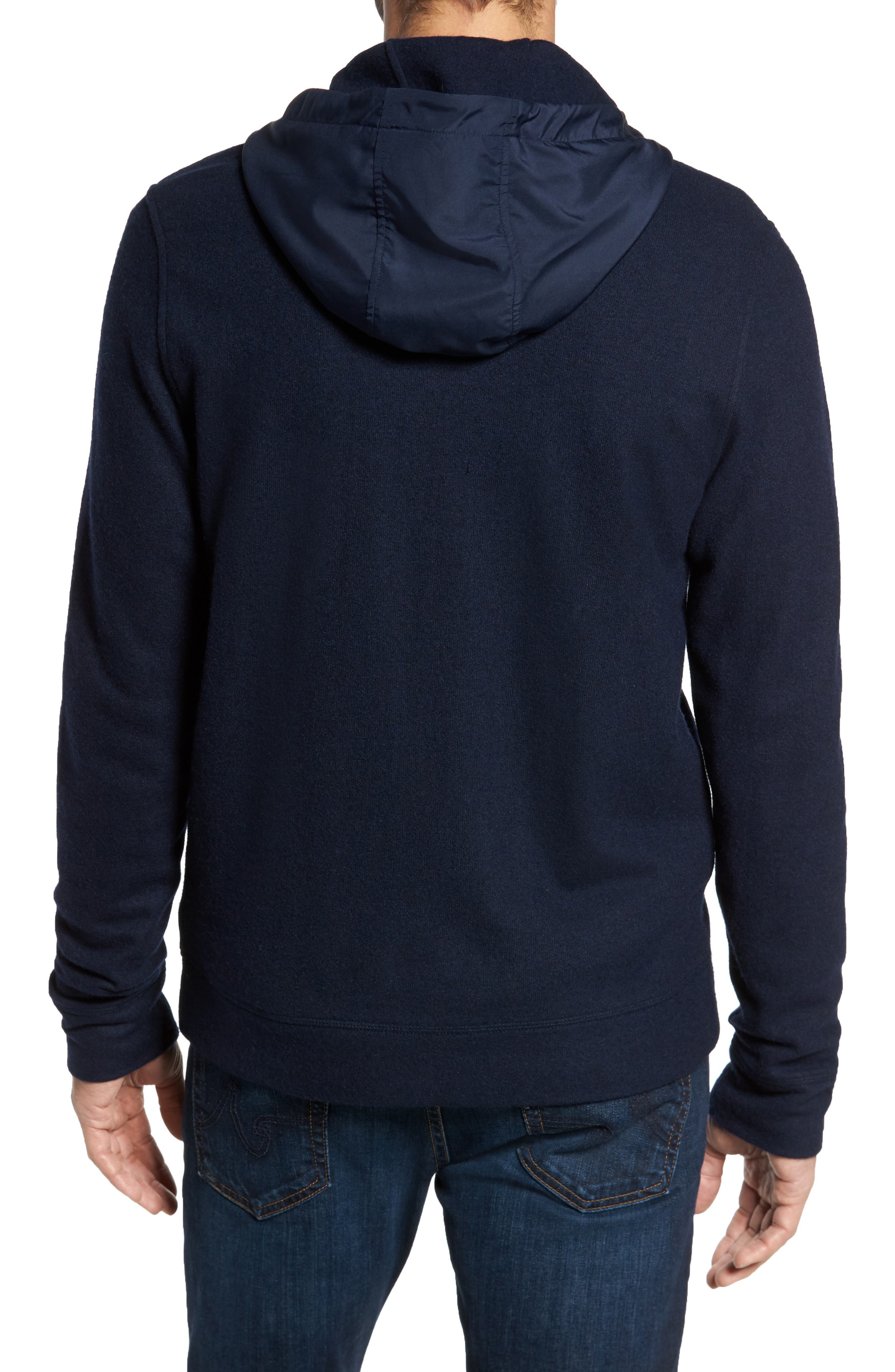 Wool Blend Hooded Cardigan,                             Alternate thumbnail 4, color,