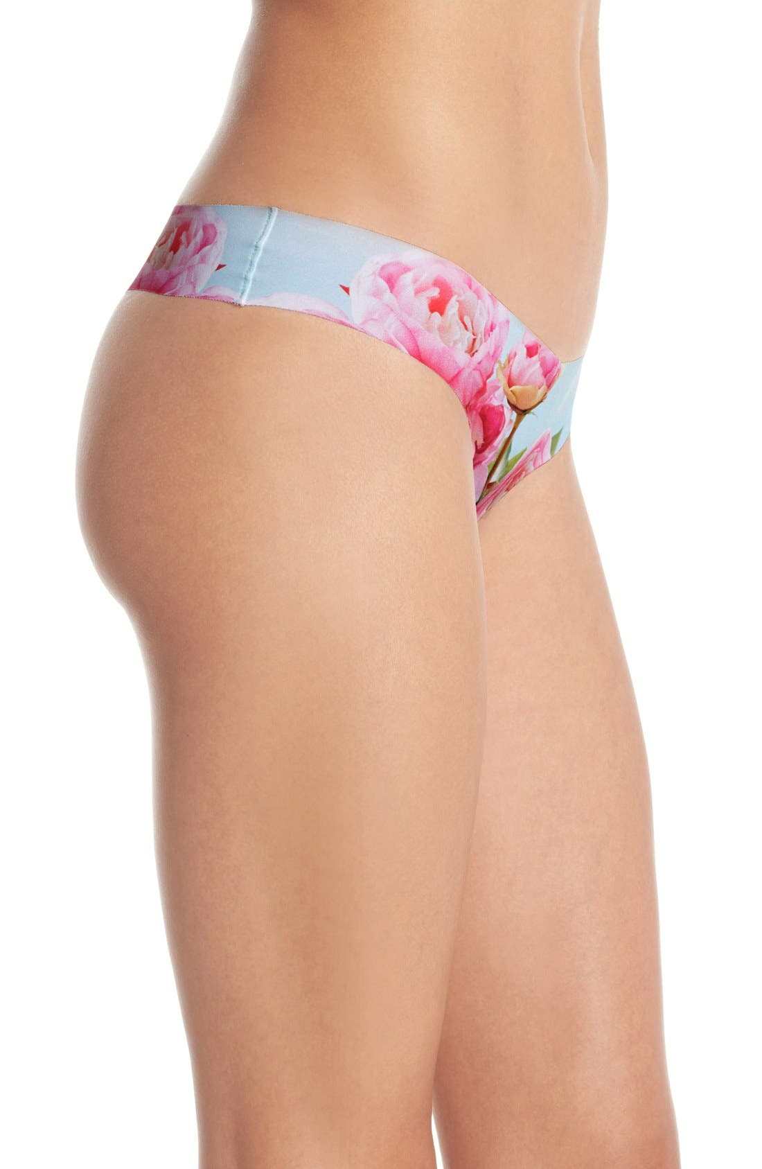 Print Microfiber Thong,                             Alternate thumbnail 175, color,