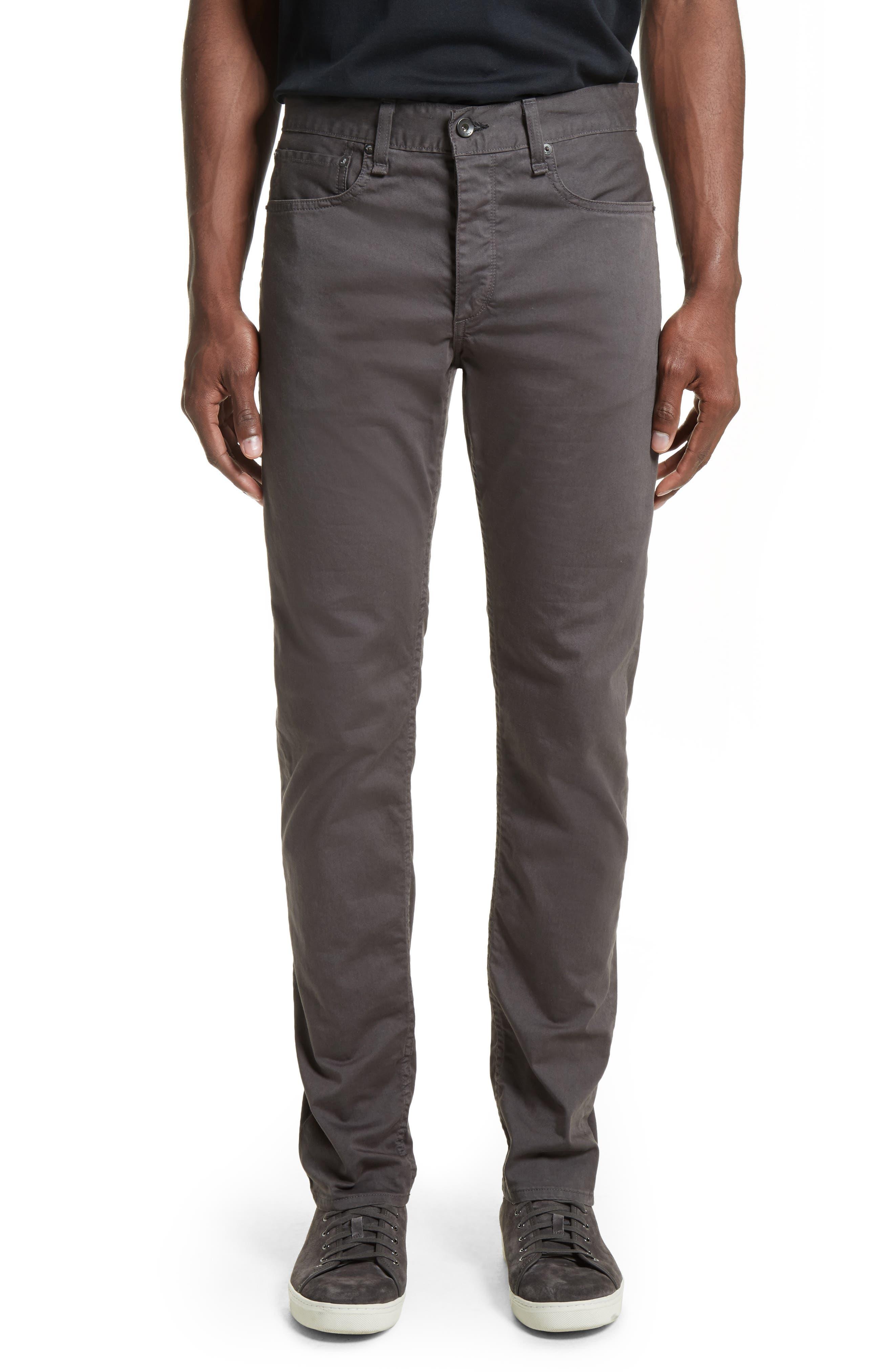 Fit 2 Slim Five-Pocket Pants,                             Main thumbnail 1, color,                             GREY